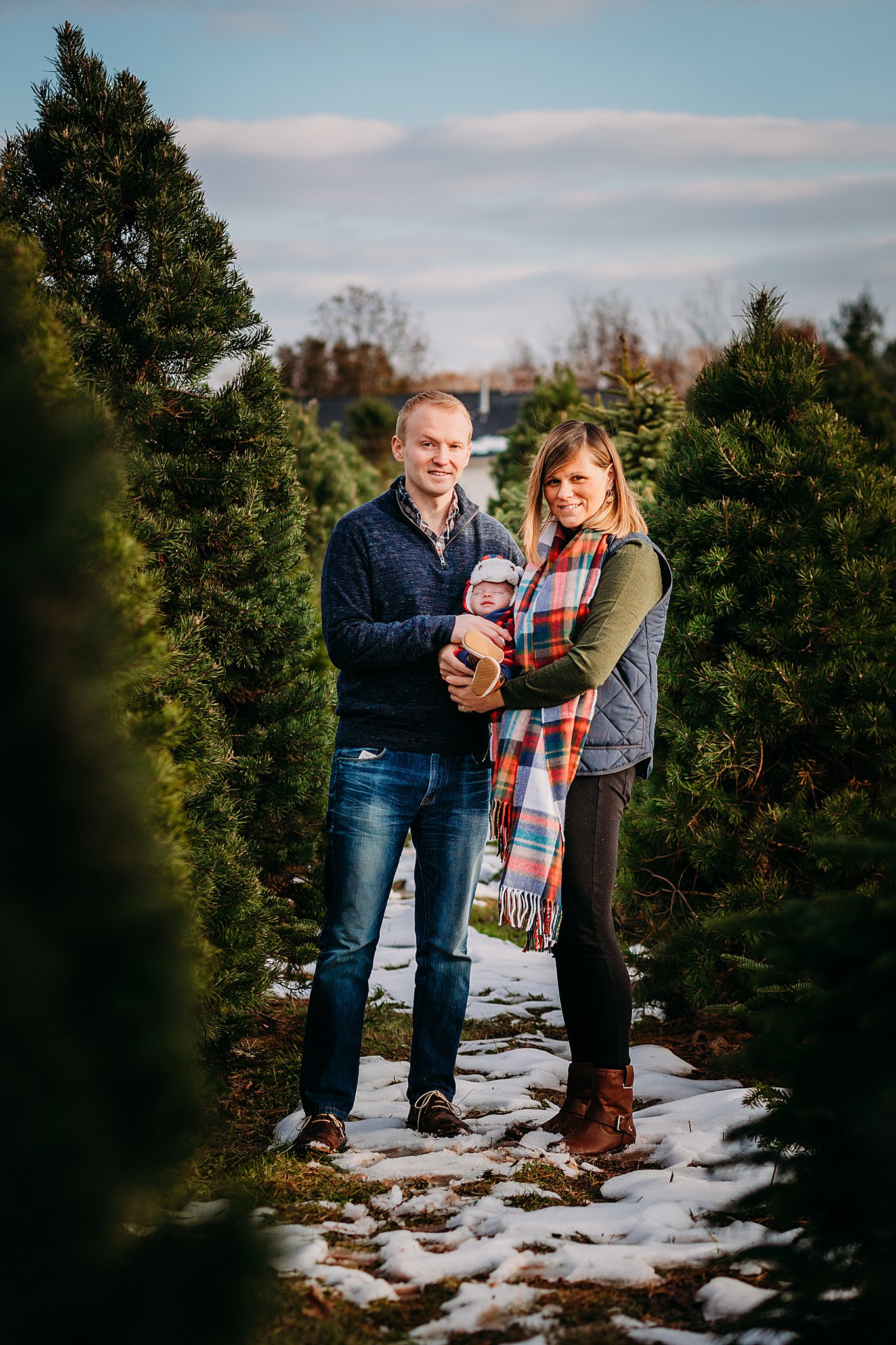 Family photography at Hague's Christmas Tree Farm