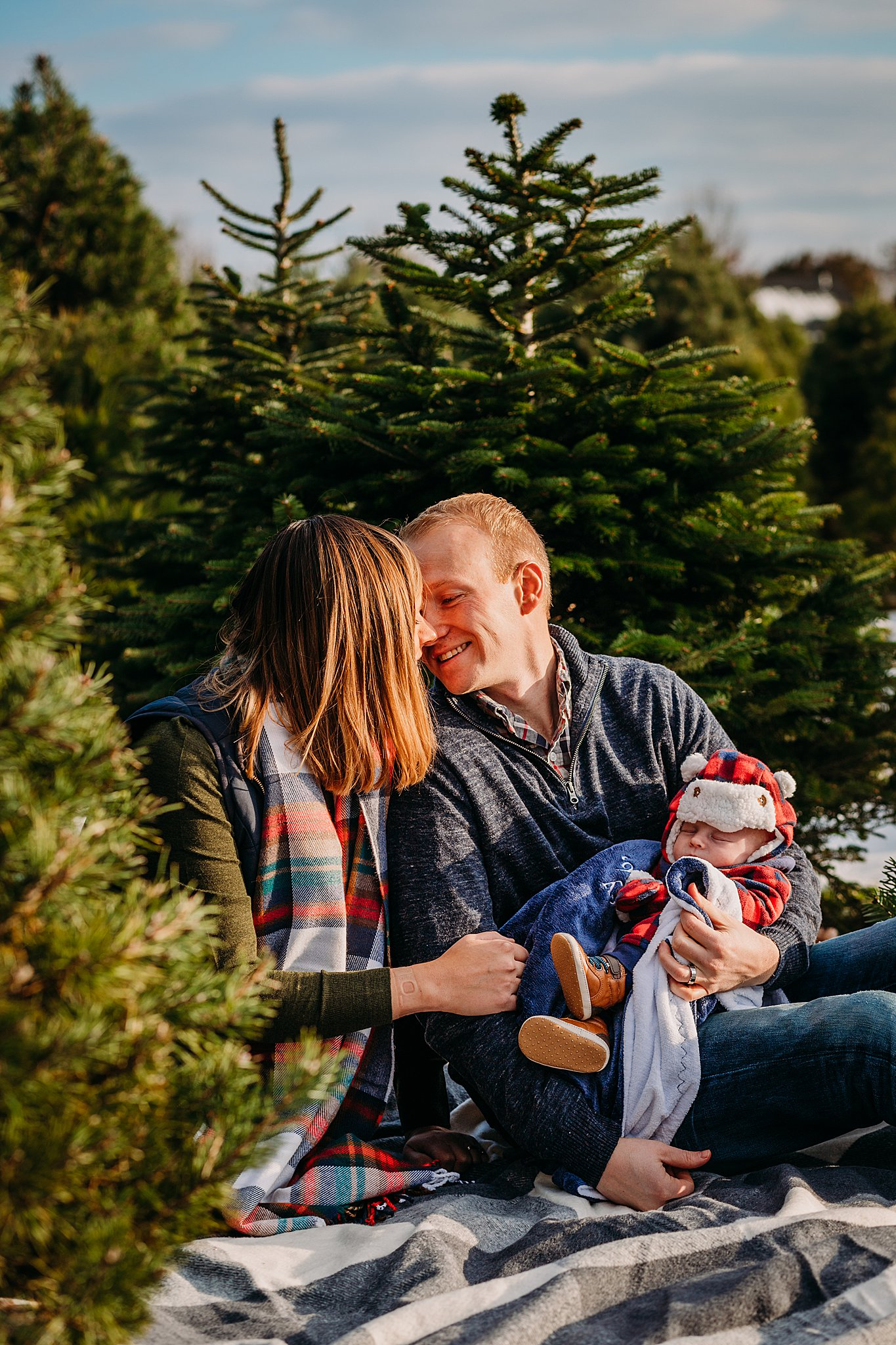 Newborn Christmas Tree Farm Photography