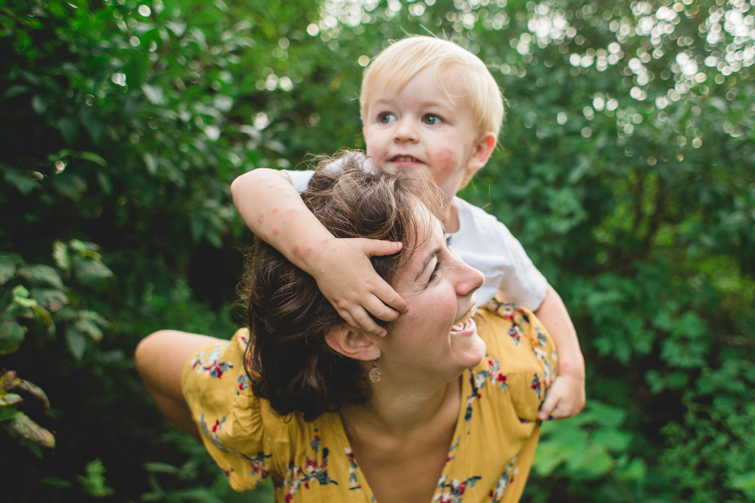 Outside of shoots, you'll likely find me being scaled by my energetic 3 year old son.  Photo credit: Lucy Baber