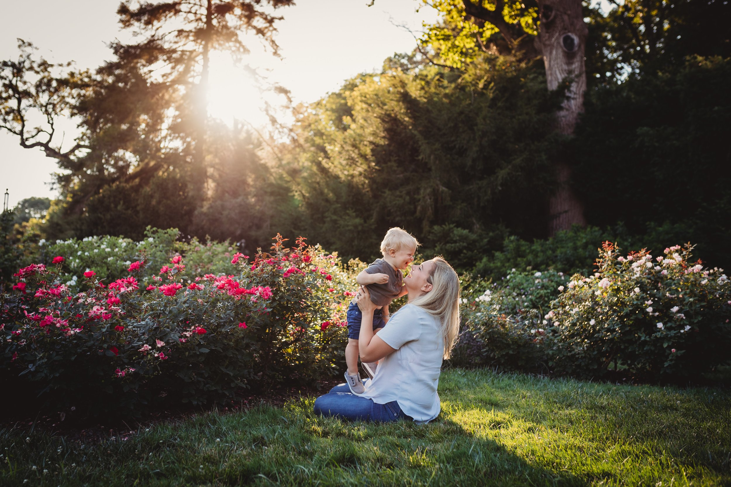 Ambler Family Photography Session at Morris Arboretum with Desiree Hoelzle Photography