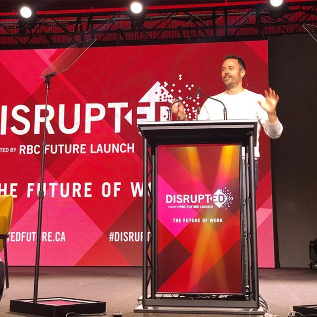 Not often you get to see a dragon in the flesh! 🐲 Fantastic talk from @lanemerrifield of @cbcdragon on big data and its impact on our lives. A fantastic conference put on by @ictam_mb! . #DISRUPTEDFUTURE