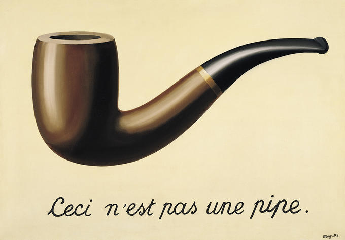 """French Surrealist René Magritte: """"This is not a Pipe"""" from his series The Treachery of Images (1928-29)."""
