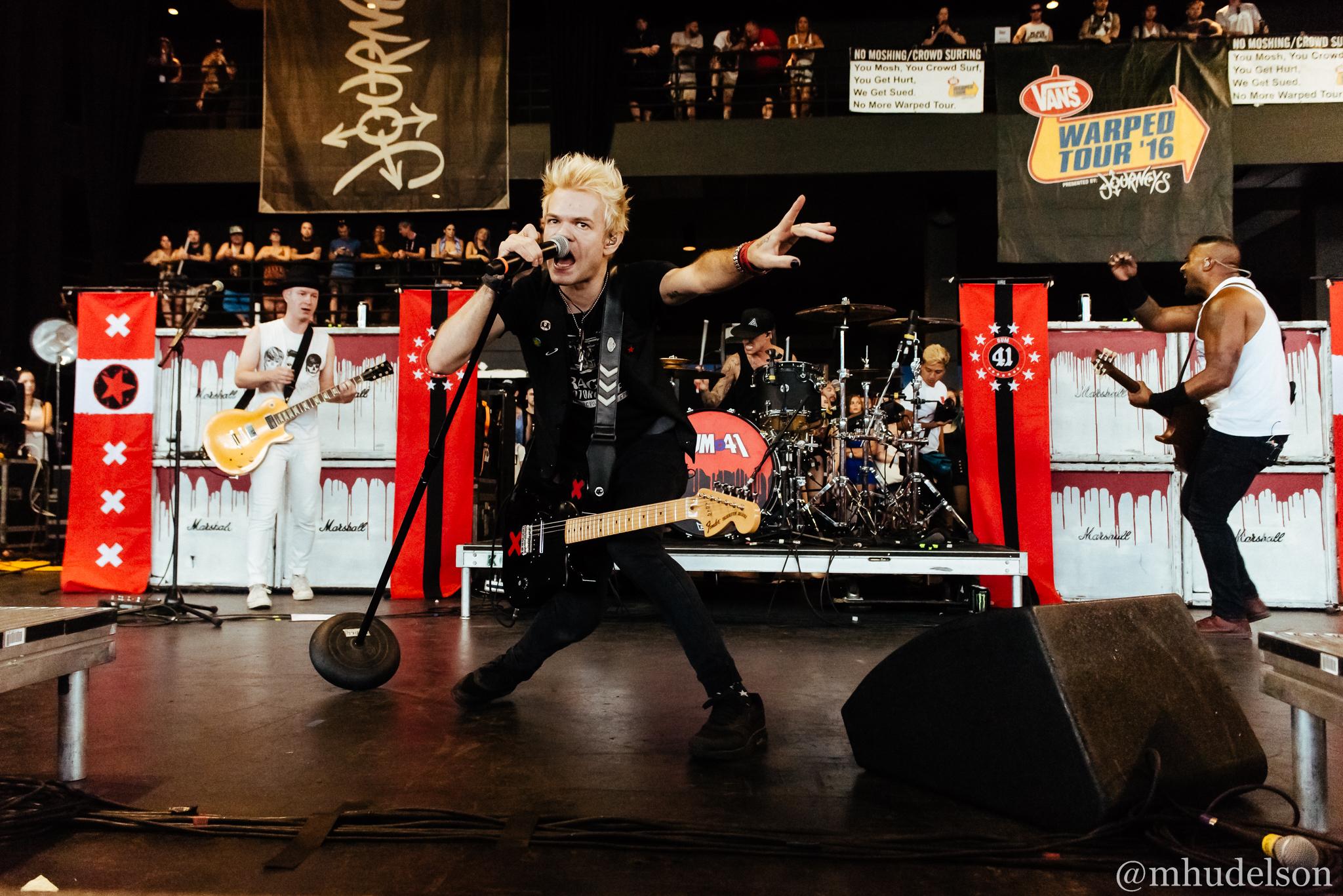 Sum 41 / 7/26/16 / Vans Warped Tour / Milwaukee, WI