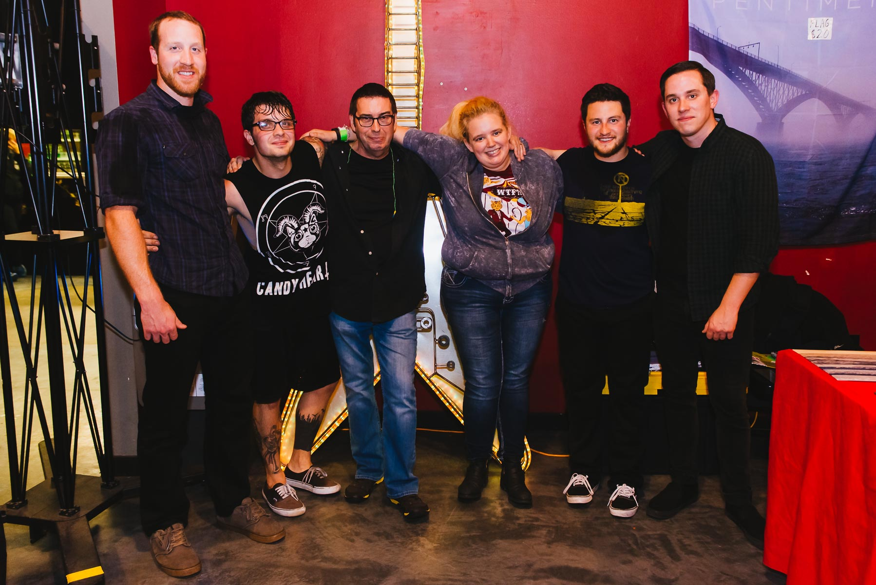 Lance, Mike, my dad, me, Vinny, and Jeramiah of Pentimento / 11/1/15 / GameChanger World / Howell, NJ