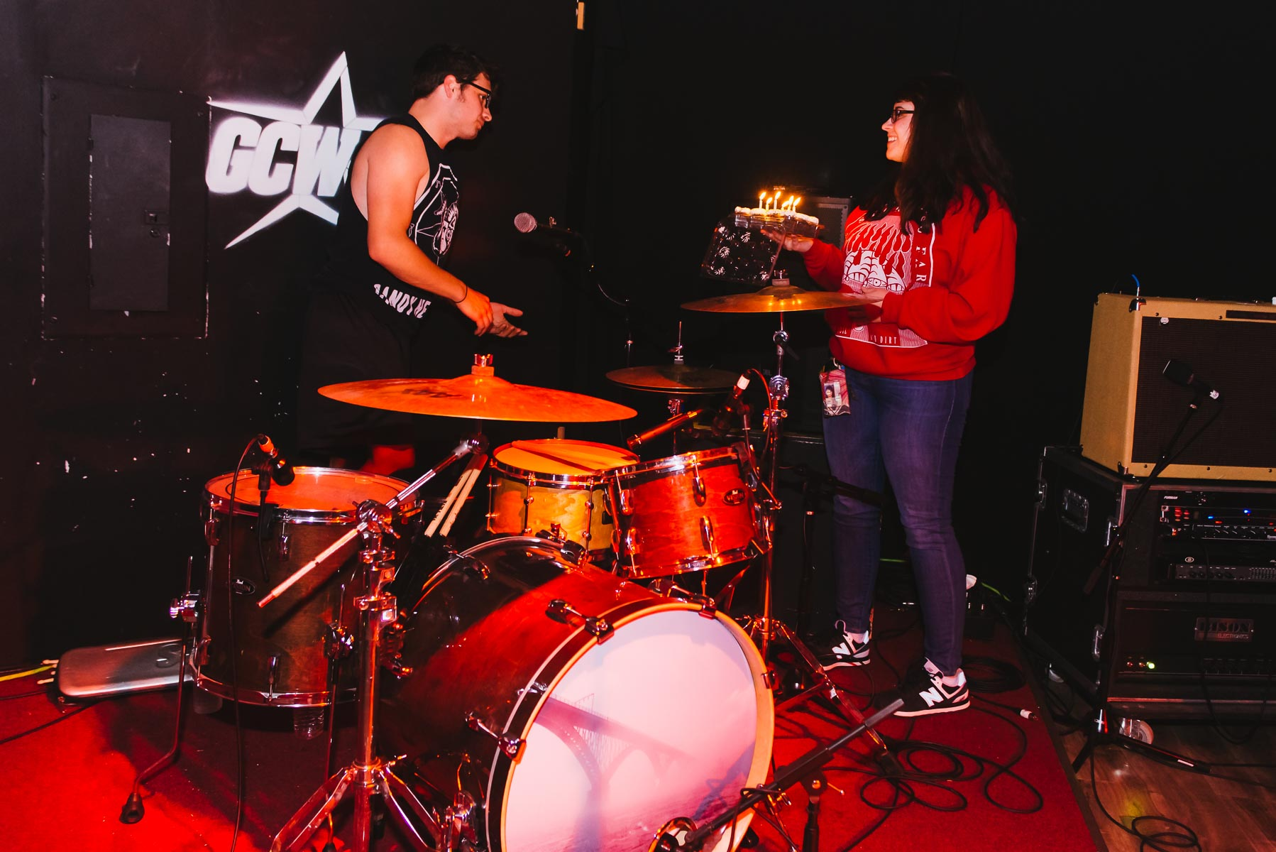 Gabby with Mike from Pentimento / 11/1/15 / GameChanger World / Howell, NJ