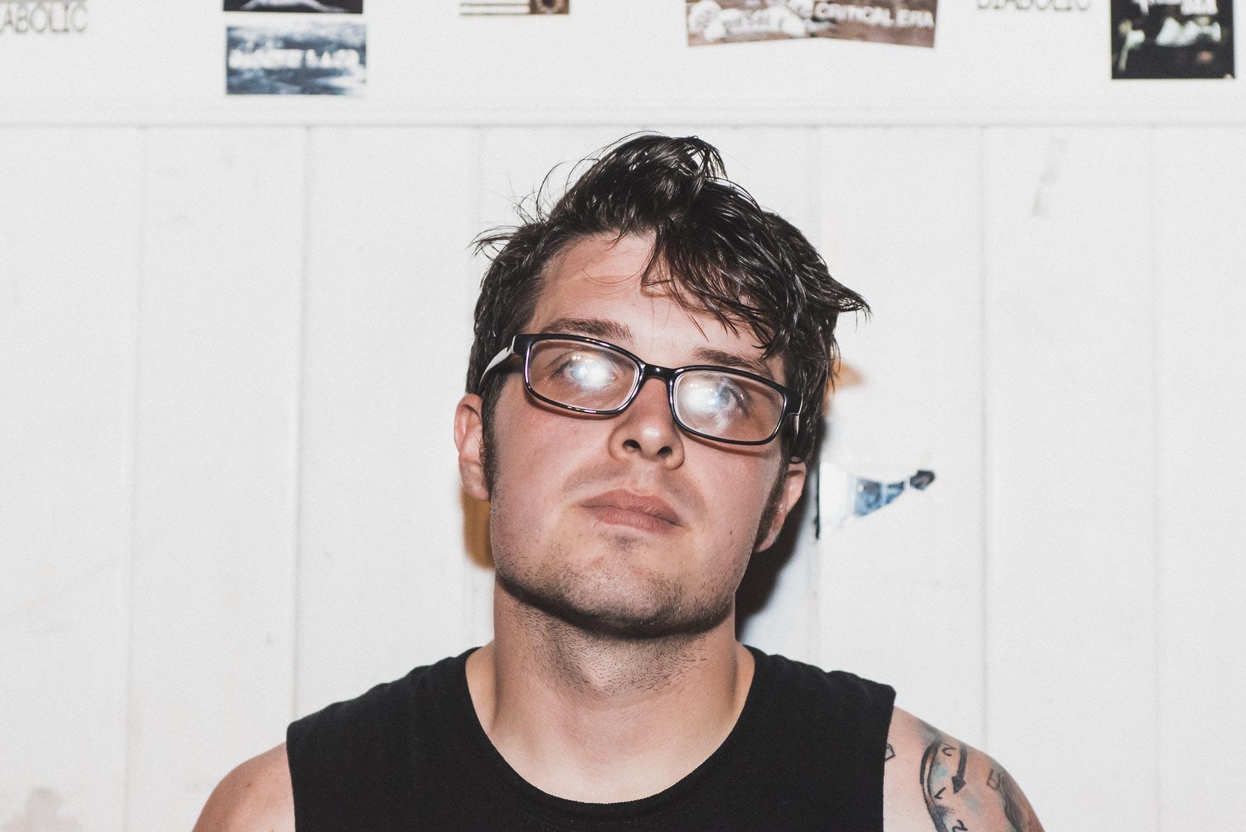 Mike of Pentimento post-set / 11/2/15 / Amityville Music Hall / Amityville, NY