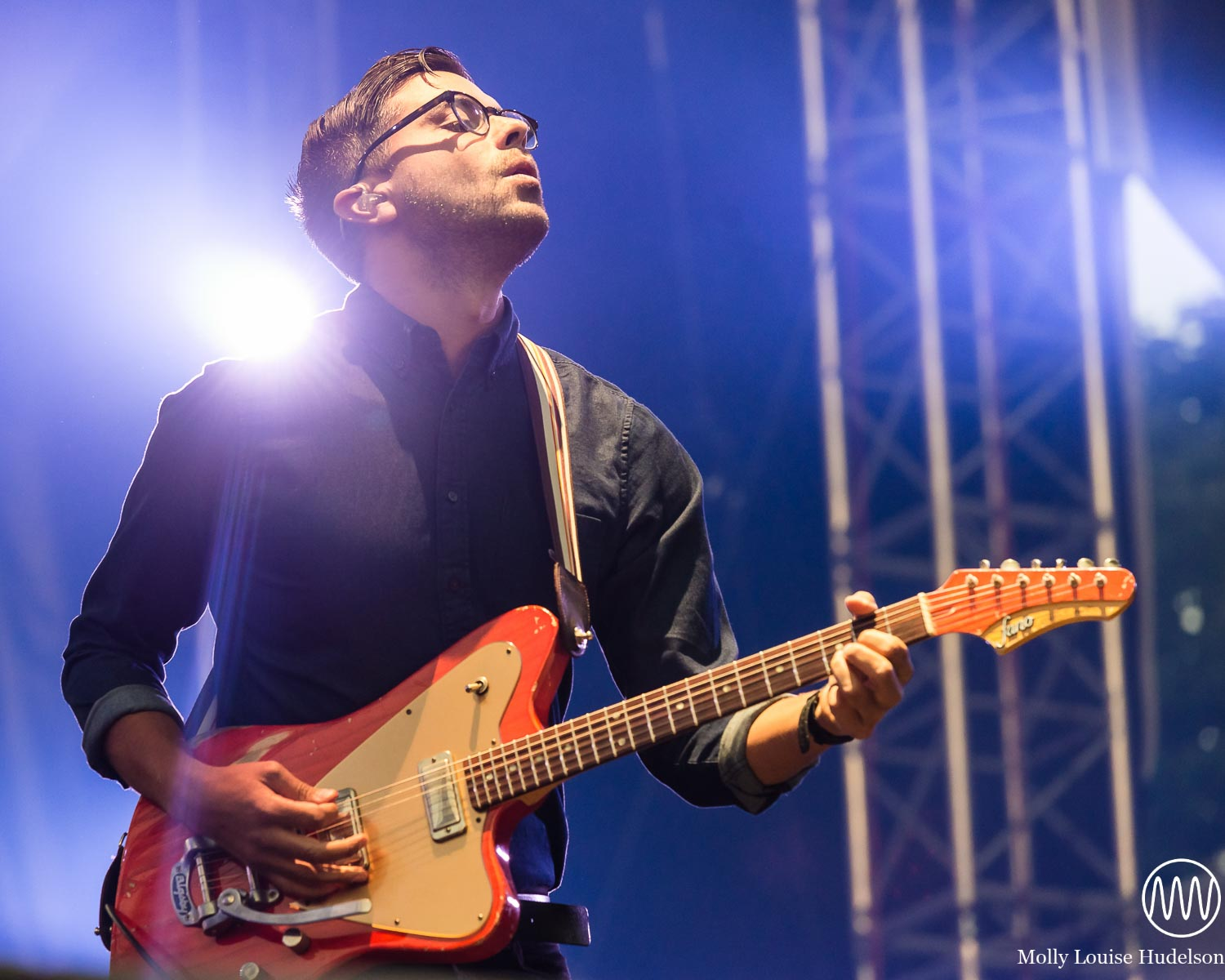 Dave Depper of Death Cab For Cutie / 9/5/15 / Made In America Festival / Philadelphia, PA