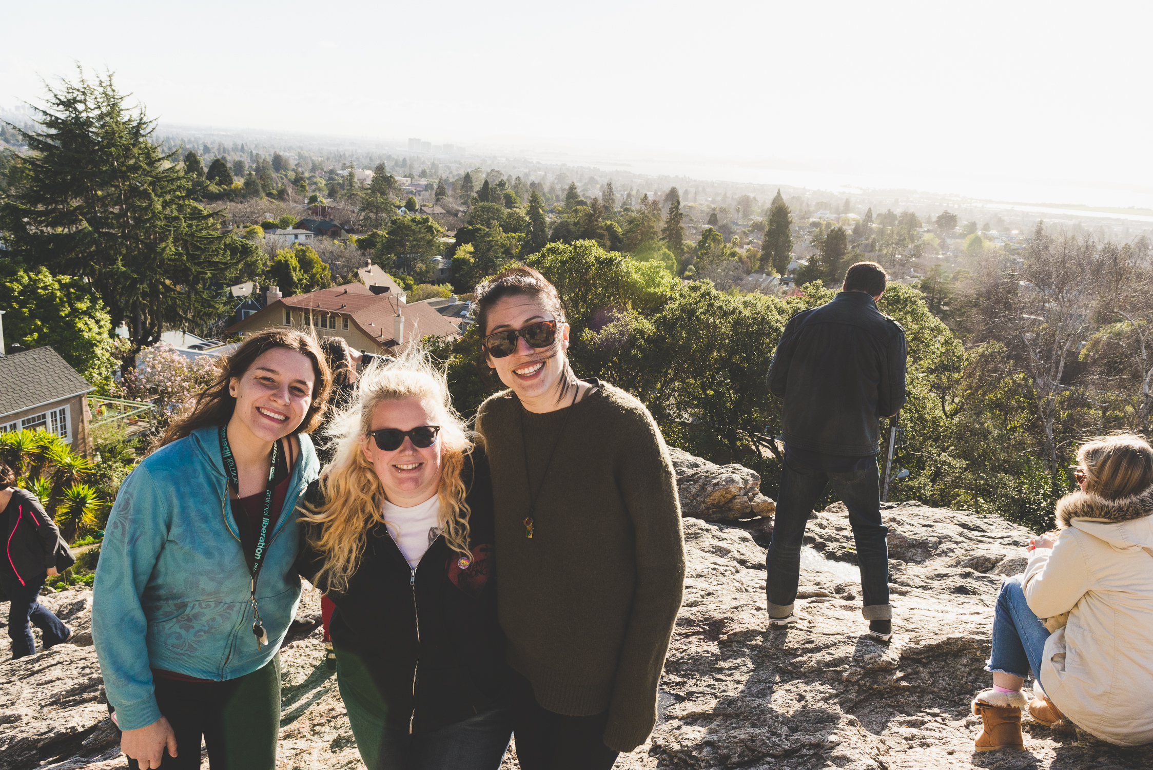 On top of Indian Rock with my tourmates Emily (left) and Karla (right) / 1/31/16 / Berkeley, CA