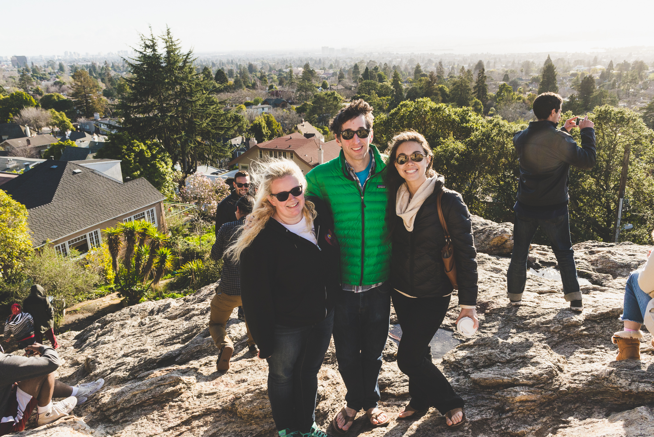 On top of Indian Rock with my cousin Sam and his fiance Katherine / 1/31/16 / Berkeley, CA