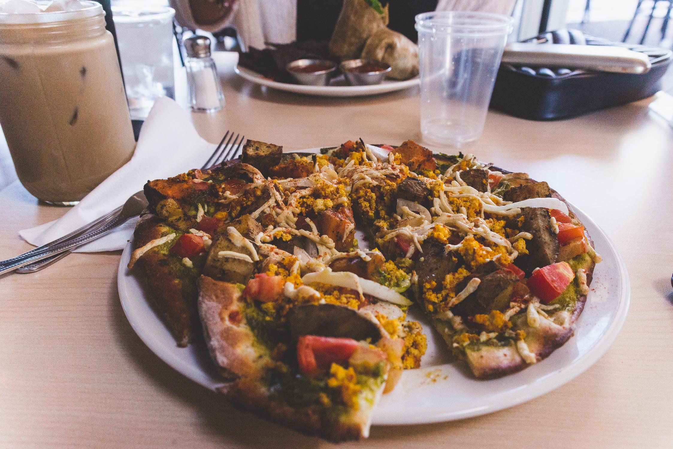 Vegan pesto breakfast pizza at The Cutting Board / 2/7/16 / Mesa, AZ