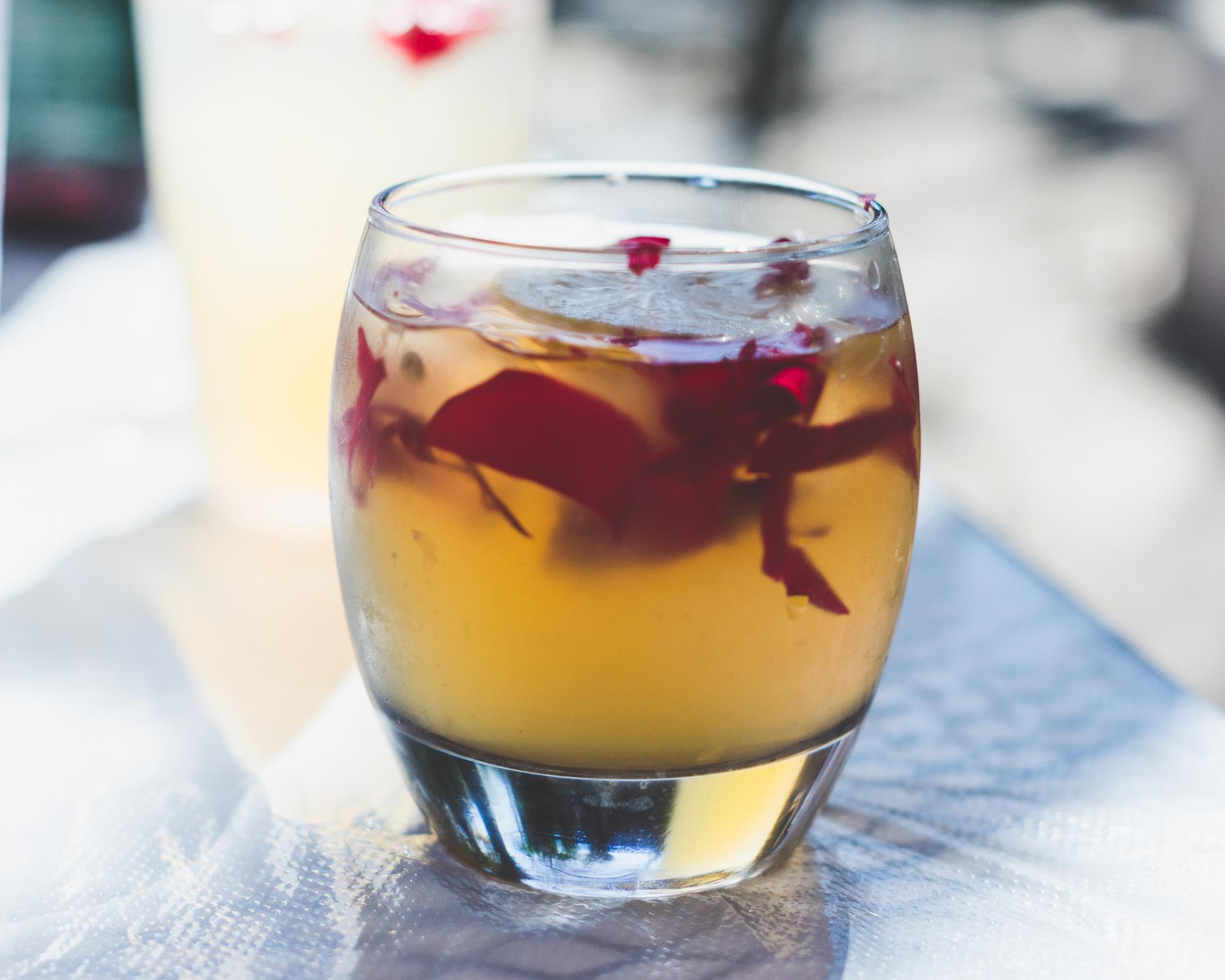 Rose petal lemonade at Vegeria in San Antonio / 2/13/16 / San Antonio, TX