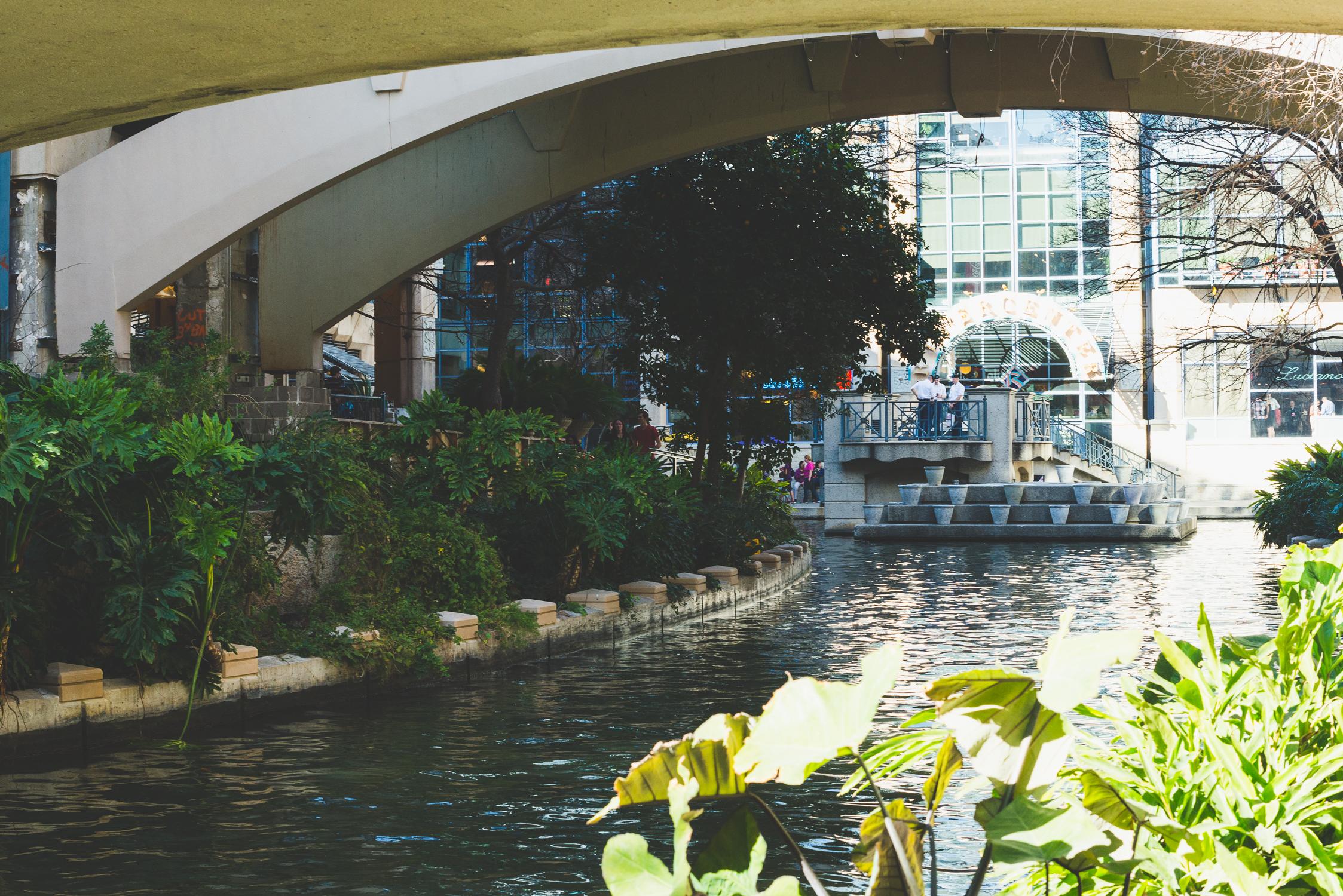 First glimpse of the River Walk. / 2/13/16 / San Antonio, TX
