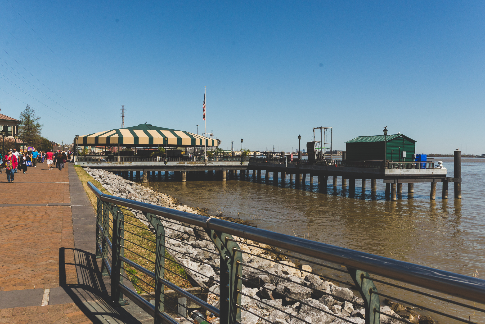 Walking by the Mississippi River. / 2/27/16 / New Orleans, LA