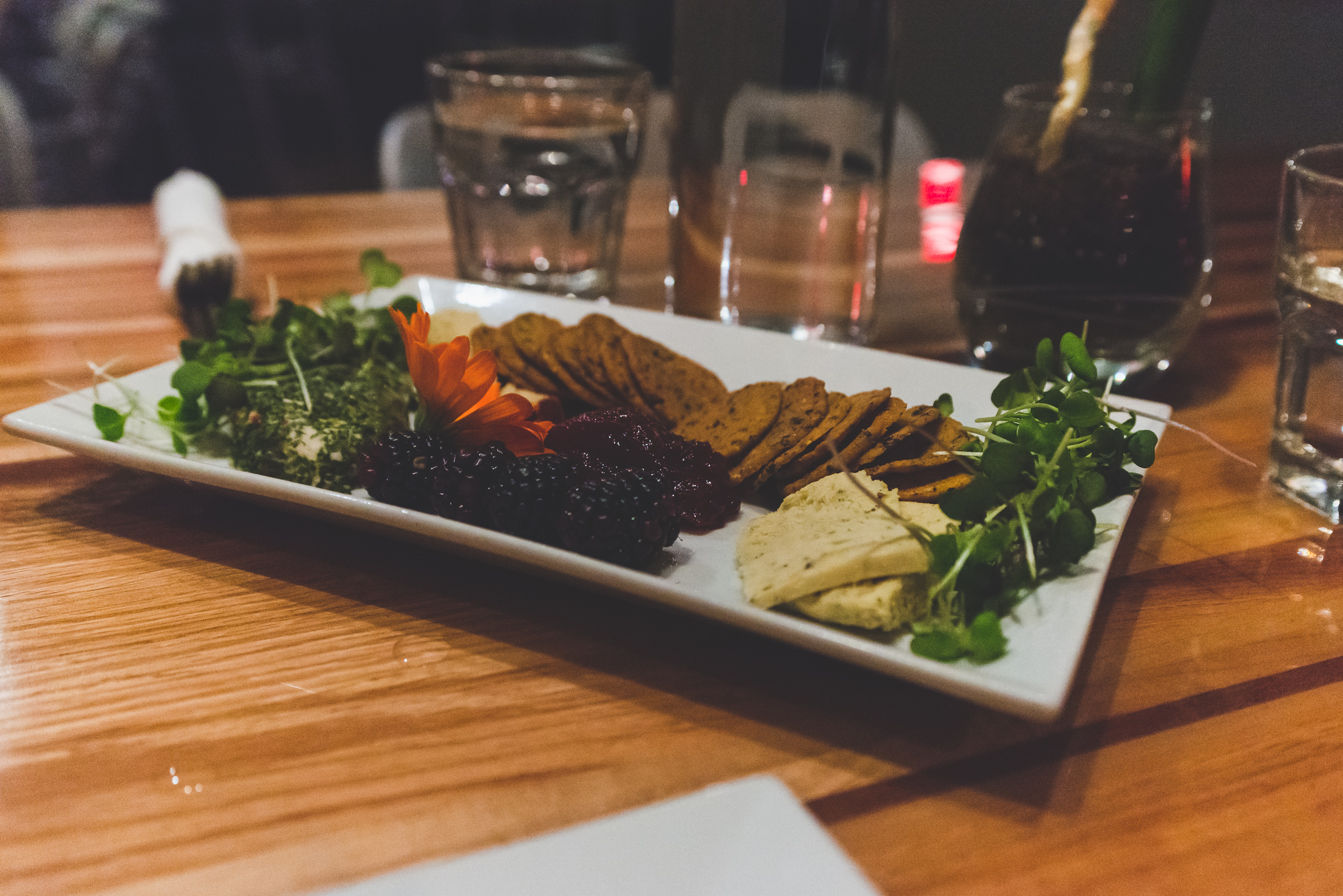 Vegan cheese plate / 4/28/16 / Zest / Salt Lake City, UT