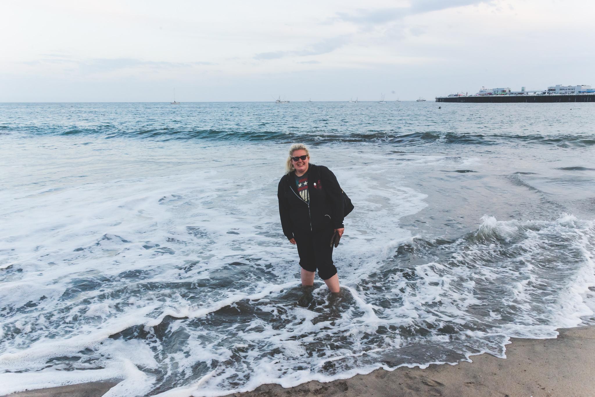 The waves felt so nice! / 5/3/16 / Santa Cruz, CA