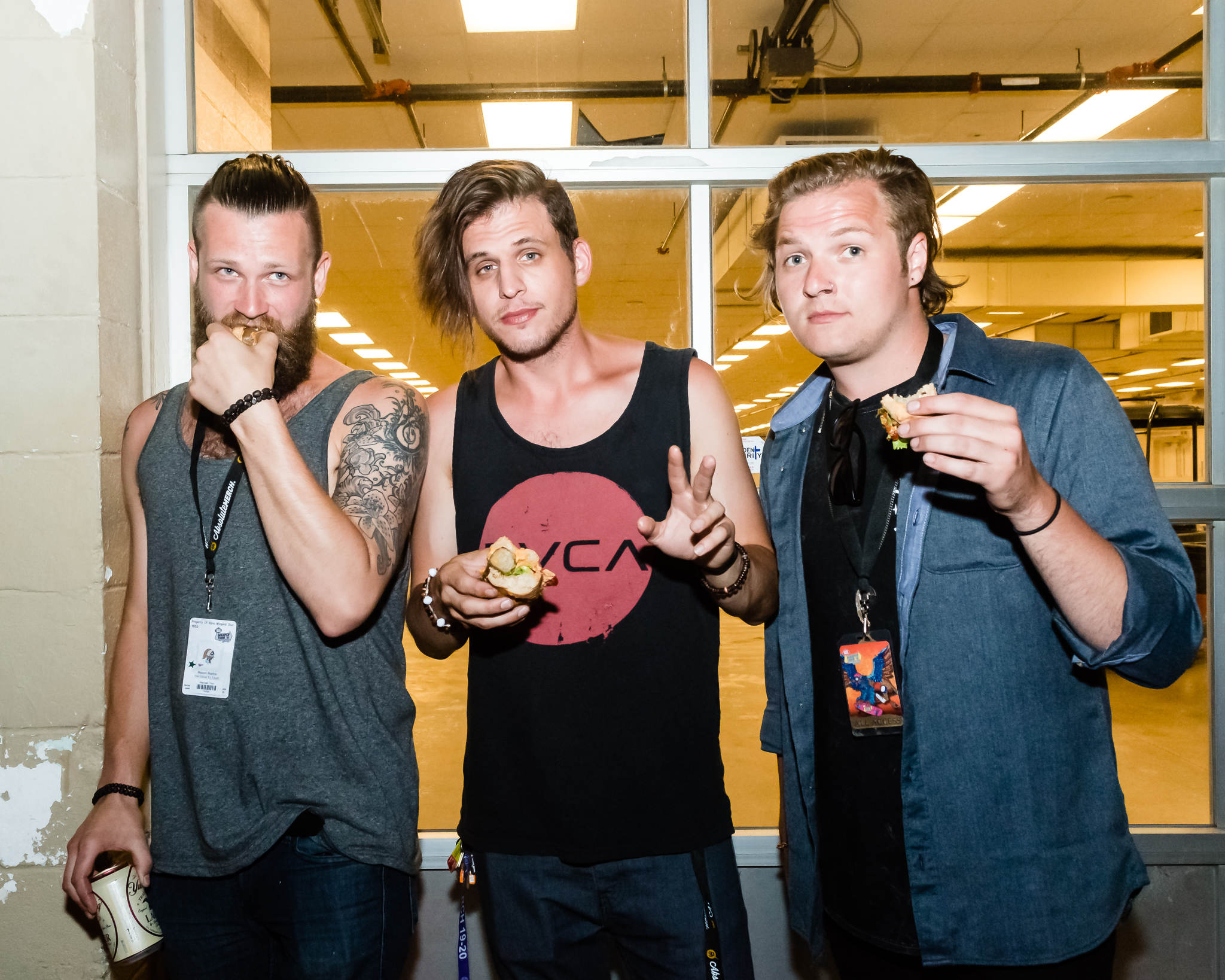 Too Close To Touch loved the veggie dogs / 6/29/16 / Vans Warped Tour / Nashville, TN