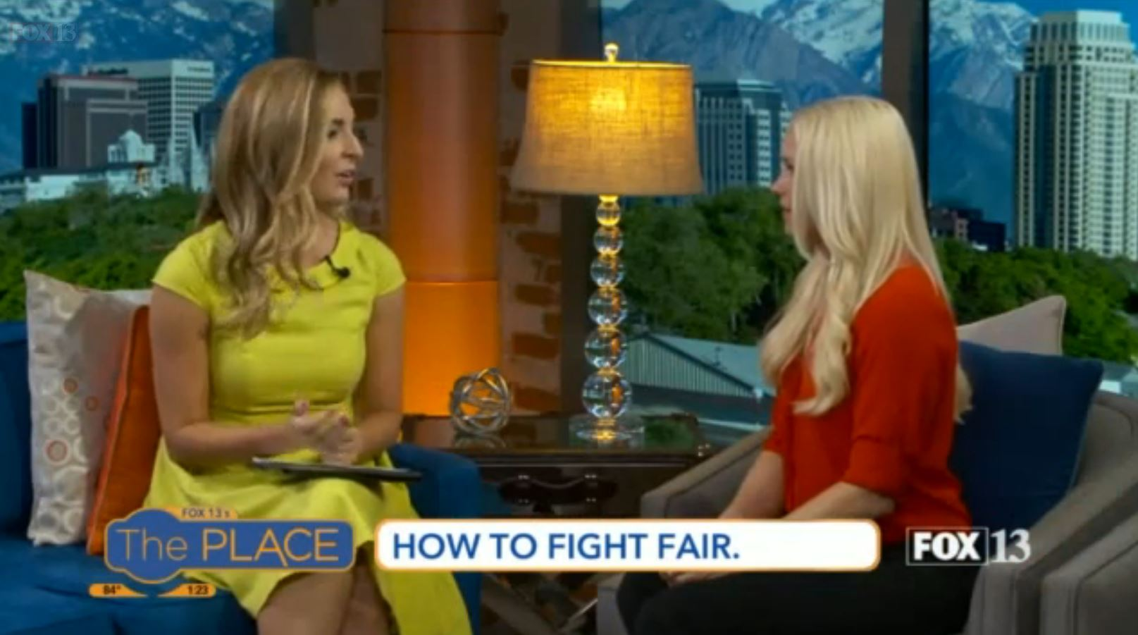 "Candice is interviews about ""How to Fight Fair on Fox 13's new show, The Place."