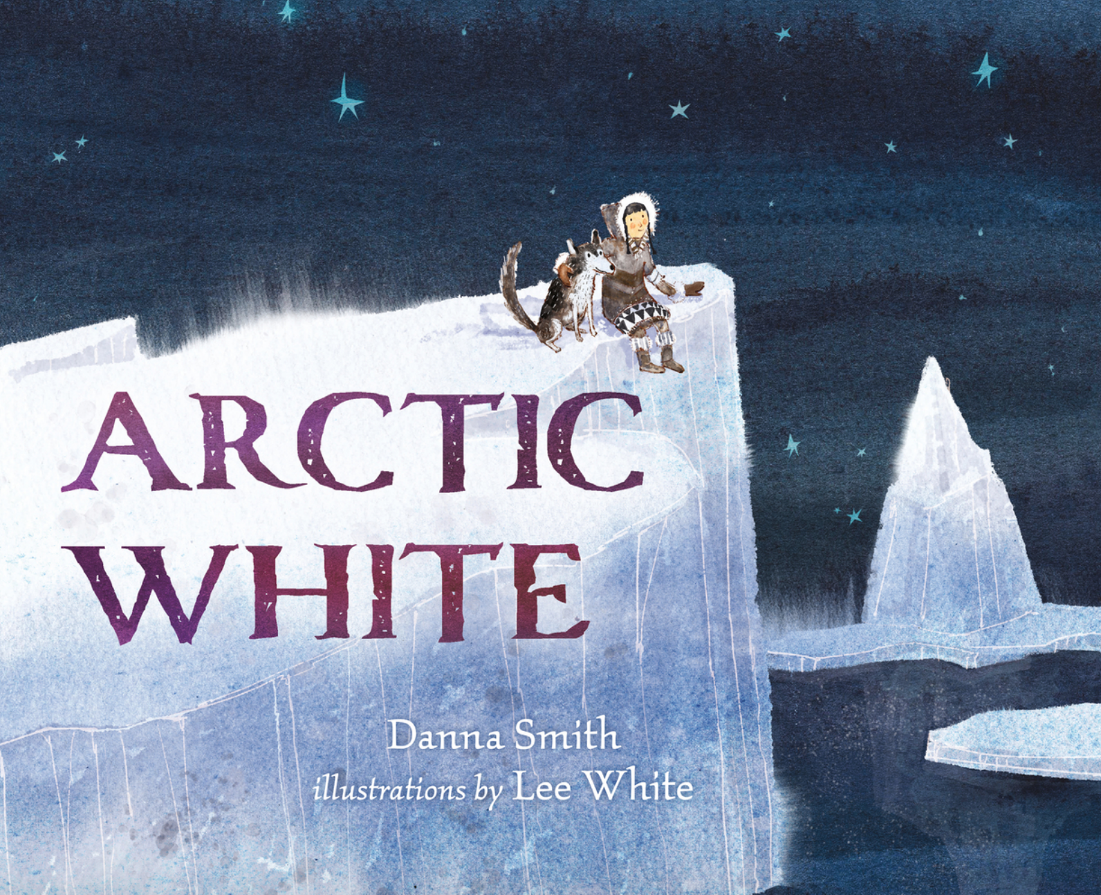 Arctic White - Written by Danna Smith, Illustrated by Lee WhitePublication Date: 1/5/16When you live in the Arctic in winter, everything is a shade of white.A young girl looks around her home in the Arctic and sees only white, white, white...but one day her grandfather takes her on a journey through the tundra.  And at the end of their cold walk across the ice, they find something special that brings color into their world.