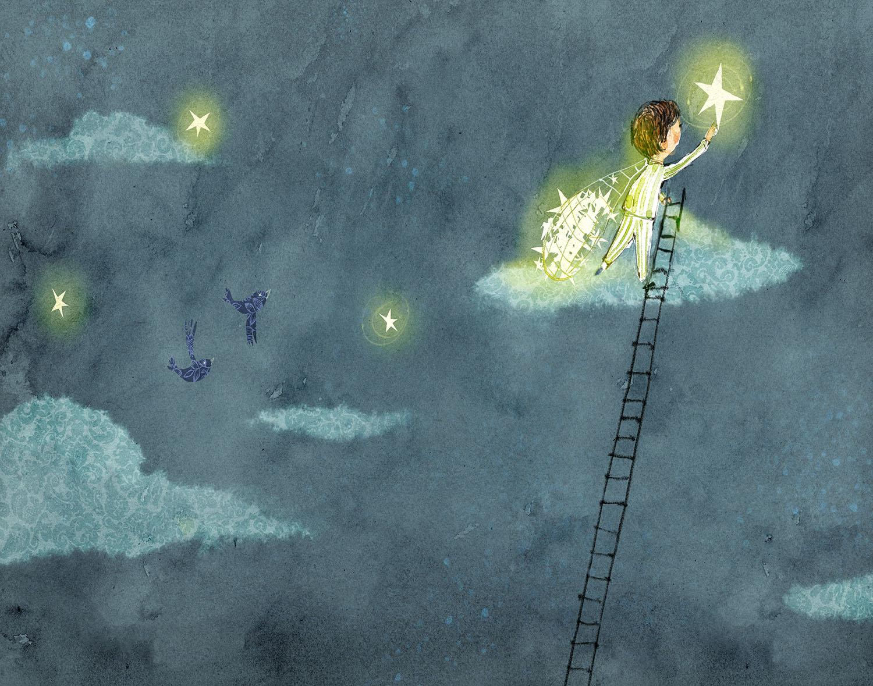 Gathering Stars. Illustration by Lee White.