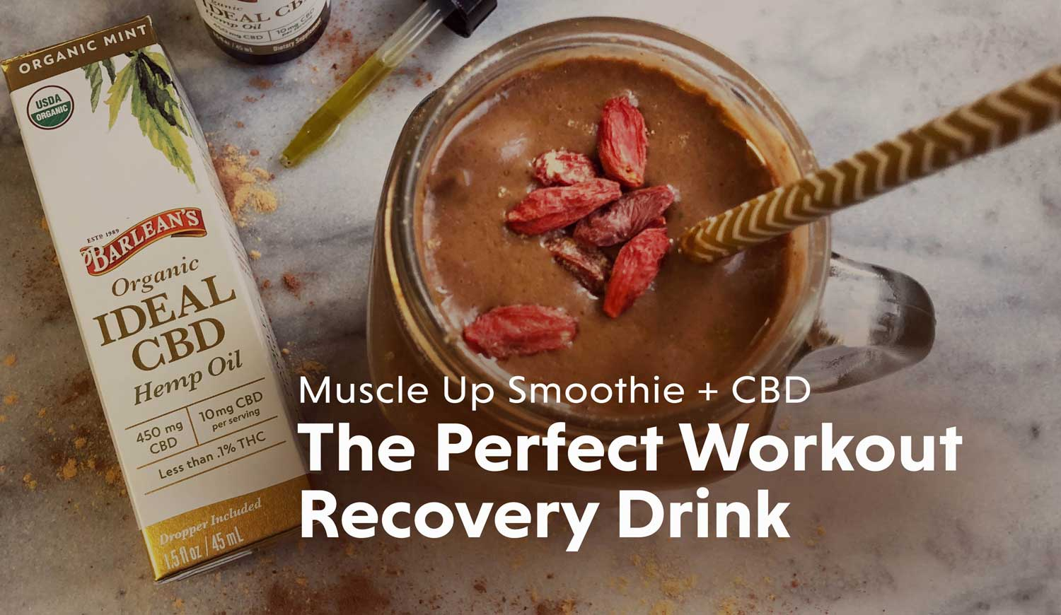 Workout Recovery Drink with CBD
