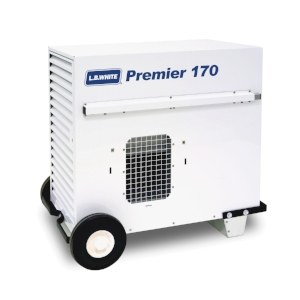 170,000 BTU Heater. 4000 Sq. Feet. Quiet, clean, and efficient. 7.9 lbs/hr of propane  * Requires electricity