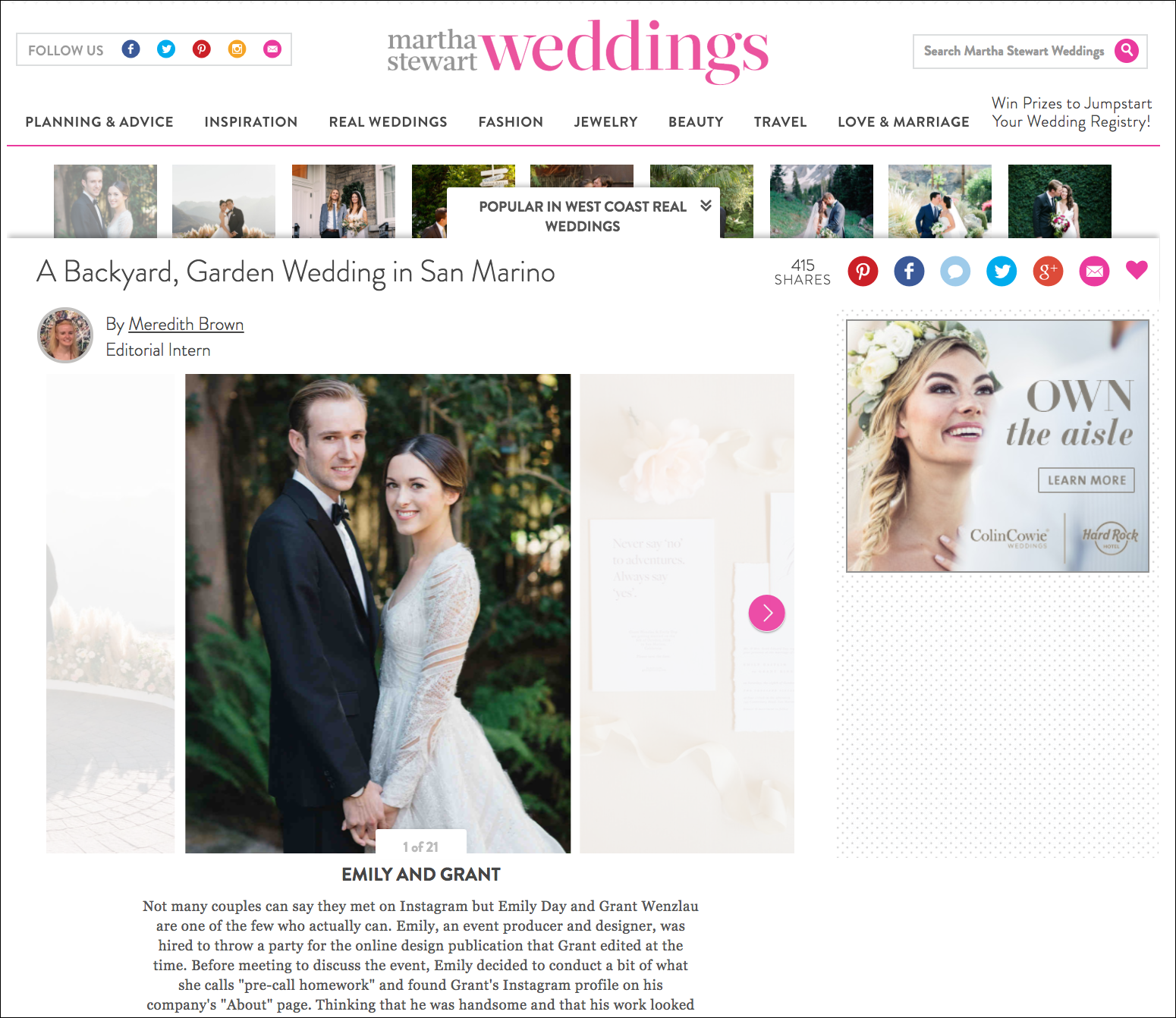 Martha Stewart Wedding Published - For the Love of It - Emily Day and Grant Wenzlau.png