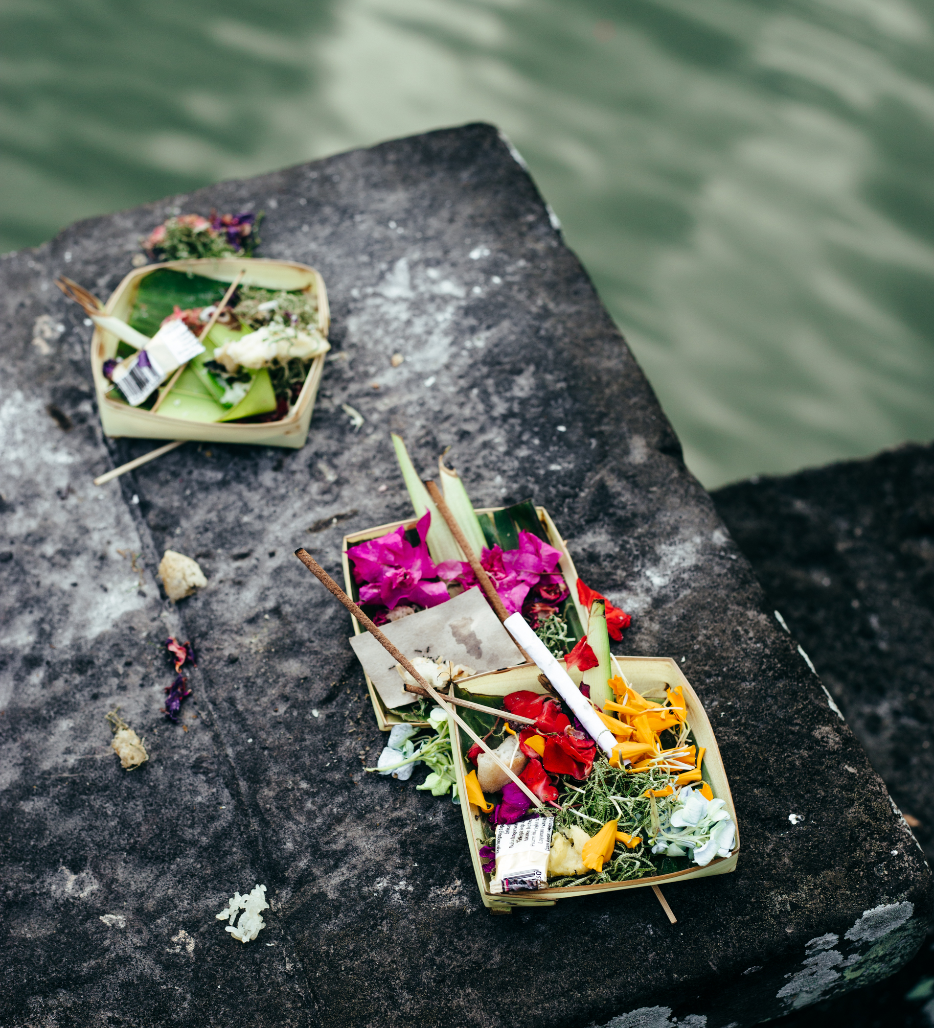 Offering by the lake