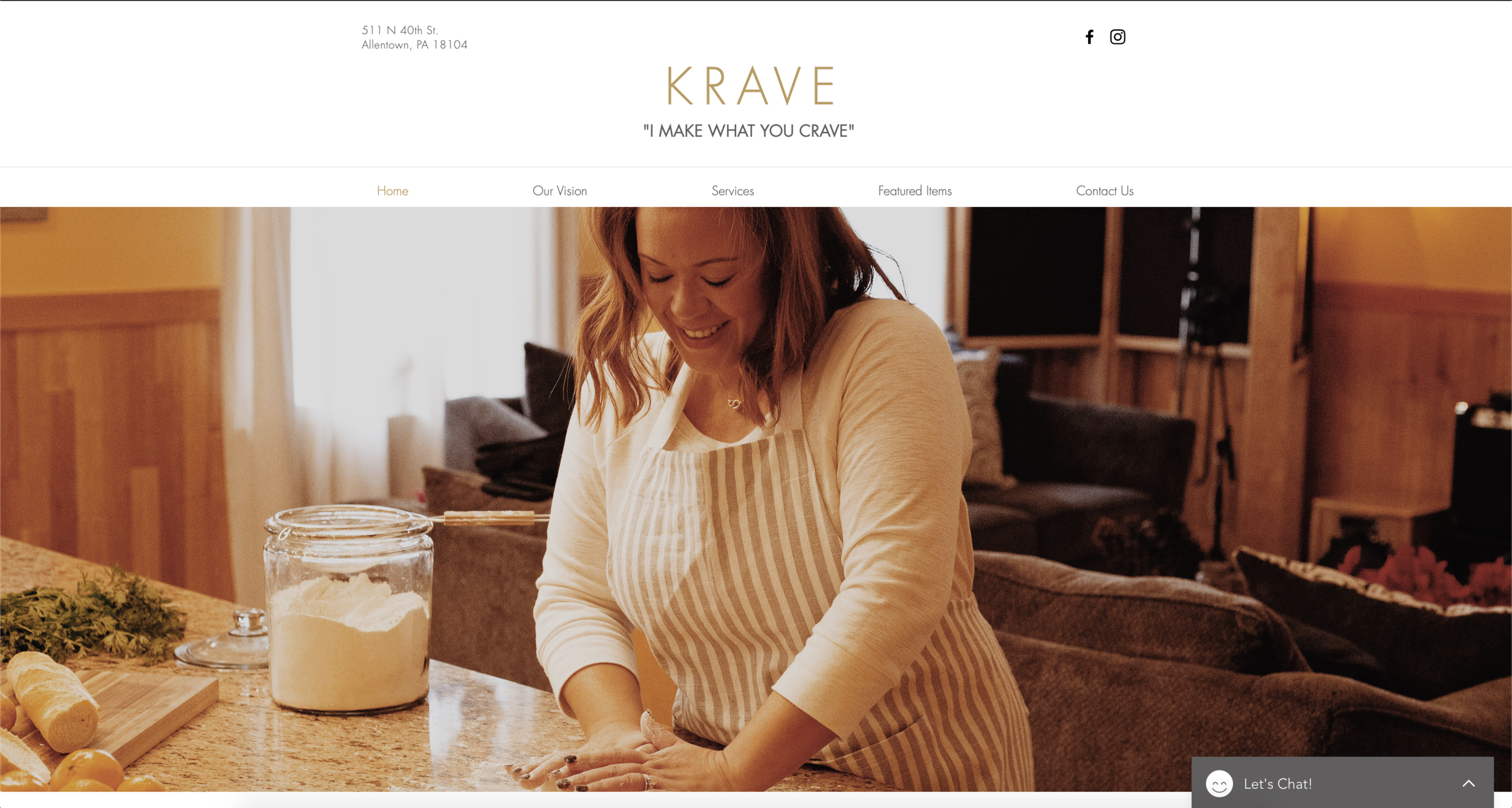 KRAVE FOOD INC. - Upscale personal catering and baking.