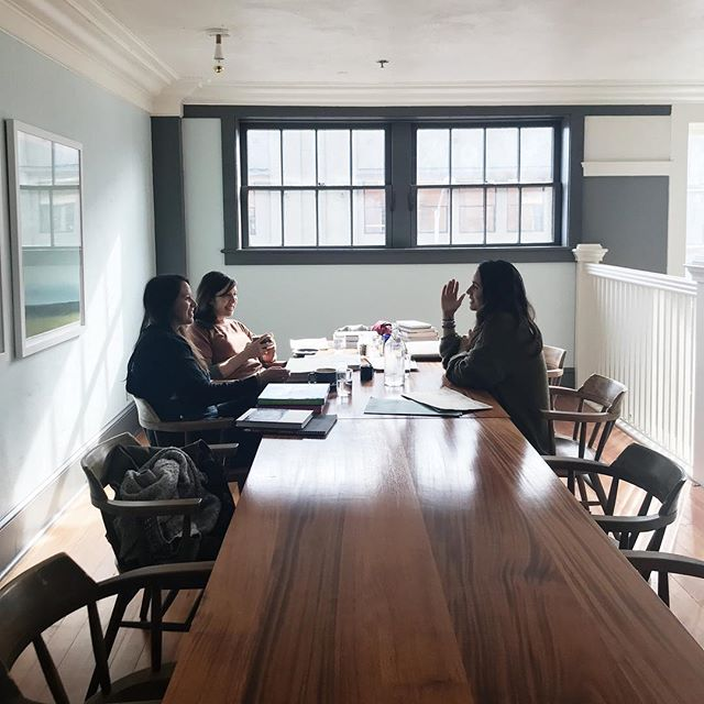 New things are on the horizon. It was an exciting morning meeting with this beautiful team of women to talk about the future of this publication. It's going to be so good. ✨