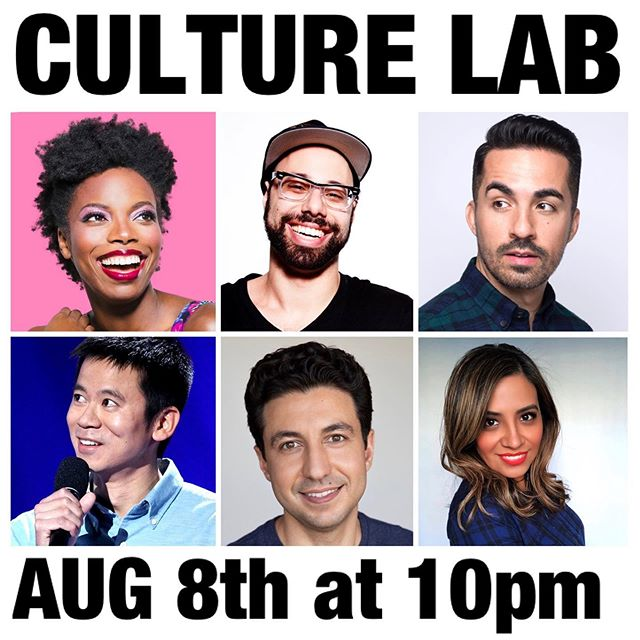 Come down to the @hollywoodimprov lab Thursday Aug 8th at 10pm for some Culture Lab 🧪 🧫