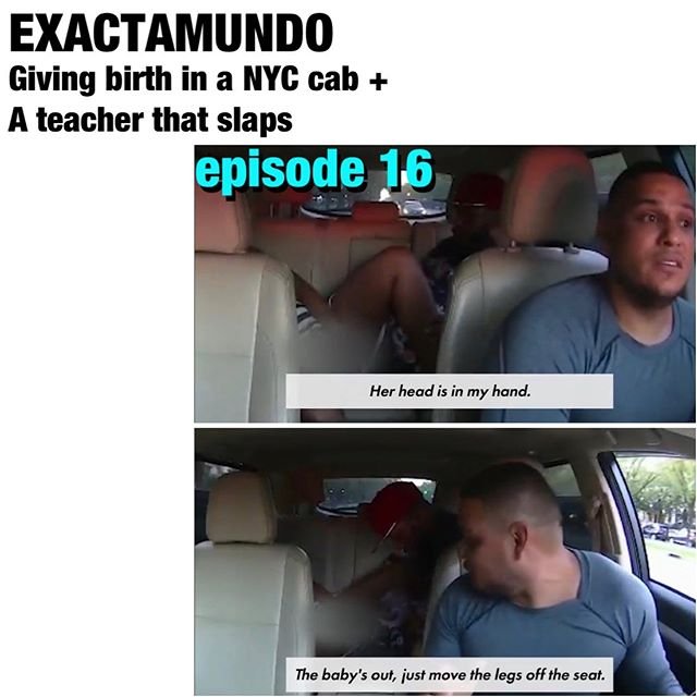 Omg episode 16 was a wild one on @exactamundopod !! What more can I say but god bless this cab driver for helping a lady bring a possible future vape consumer into the world.  Link in bio baby!  And if you can do ol'Edmundo a fav Rate & review the pod!