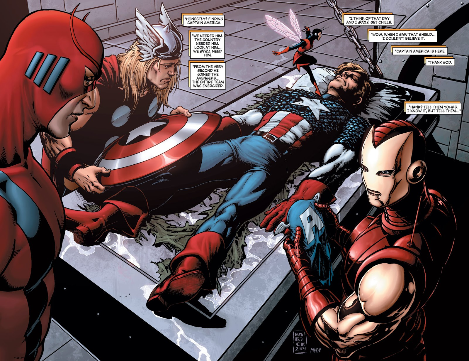 A panel from Avengers: Disassembled. | IMAGE from MARVEL COMICS