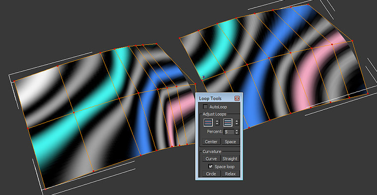 -Try to evenly space edge loops or to use any curve tools available for vertices or to make the change in edge loops density gradual.   Proper edge spacing and positioning the vertices to follow a curve could greatly improve reflections.  In 3ds Max you can use the loop tools to do so.