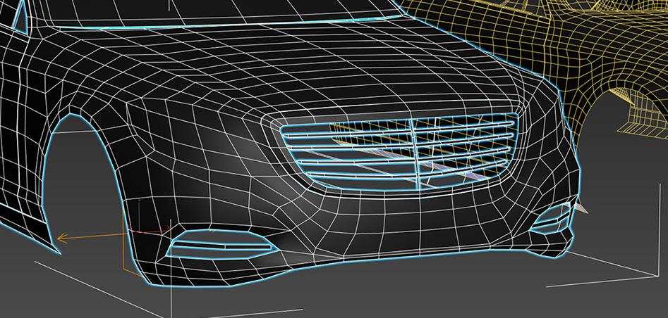Car Spoiler Modeling Initial Phase
