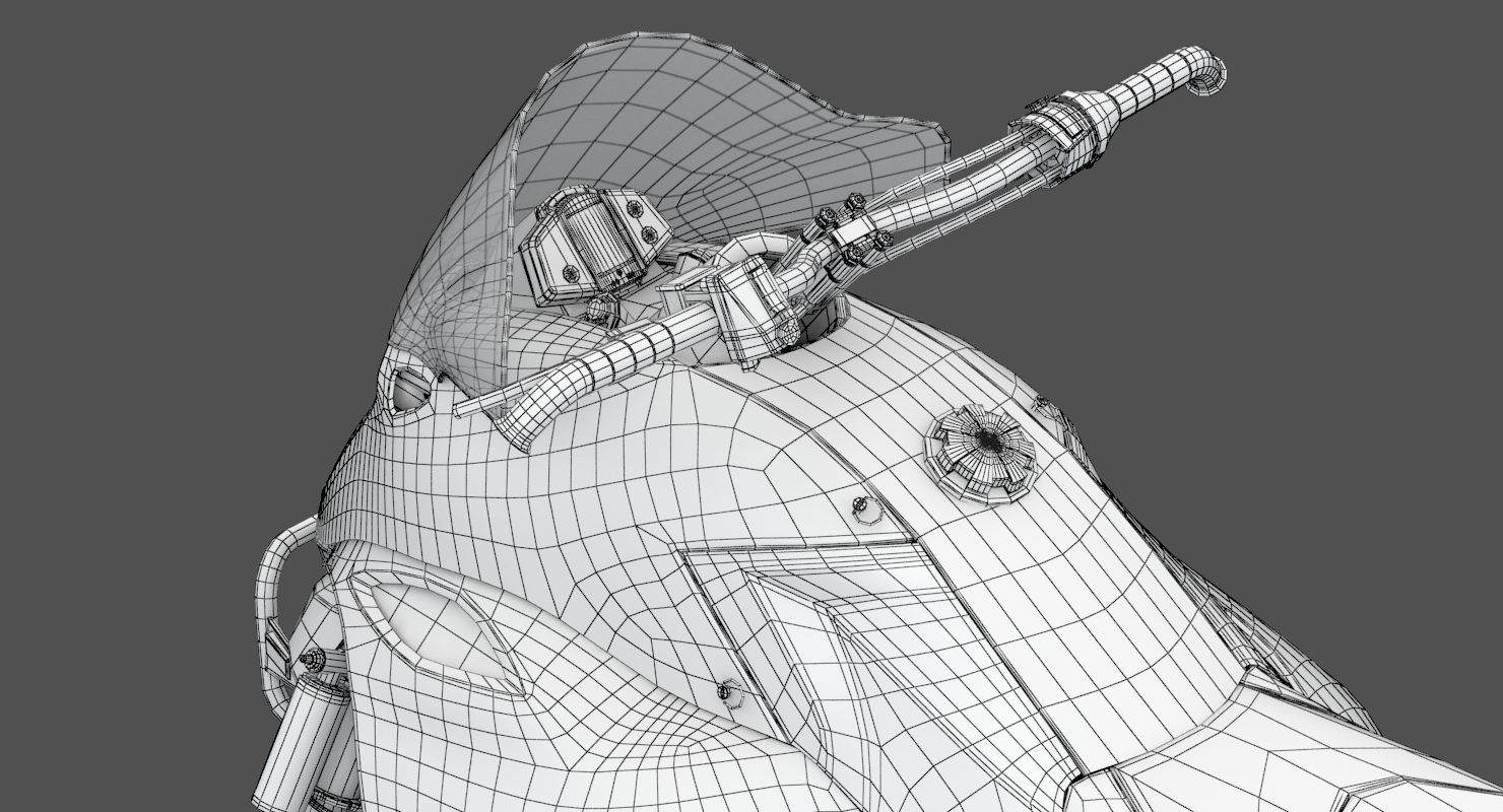 Snowmobile Wireframe 2