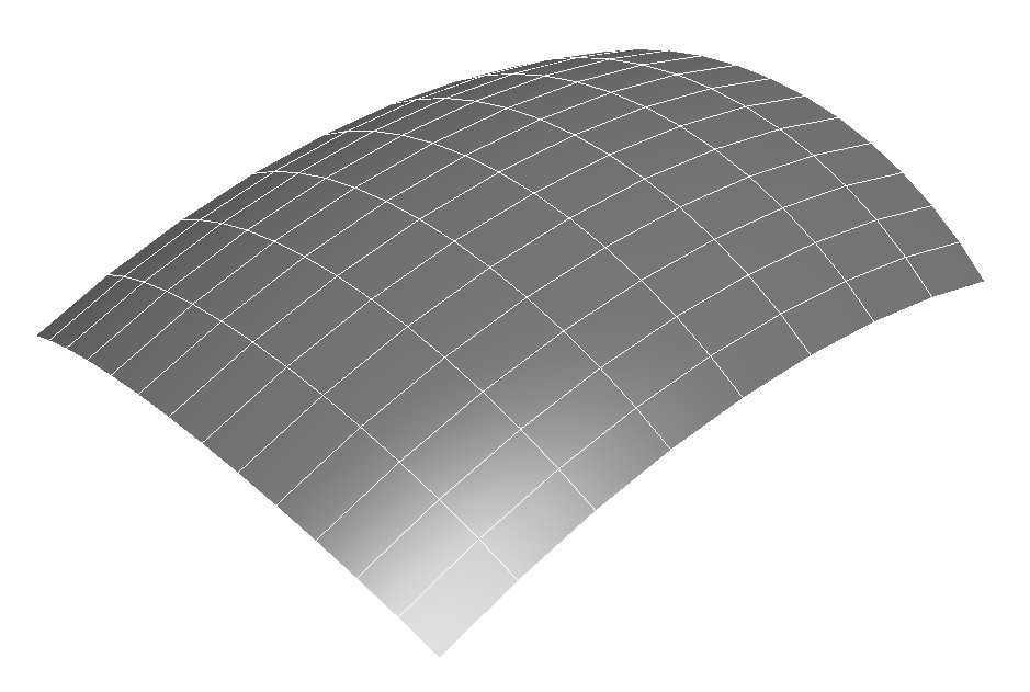 This here is a smooth surface, all the vertices line-up perfectly