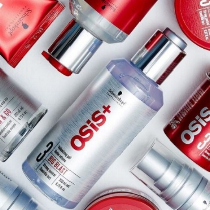 Schwarzkopf Professional OSiS+    OSiS+ is the creative look-based styling range that pushes your boundaries, made to create truly individual signature styles. OSiS+ inspires you with the ultimate Trend Collection, bringing tomorrow's trends to your salon before they go mainstream.