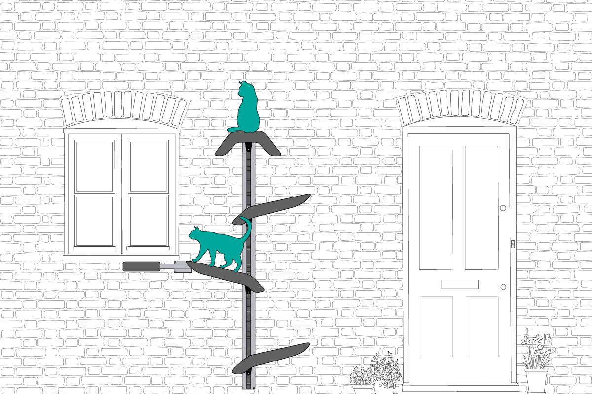 Cat Tree Window Access Idea Outdoor