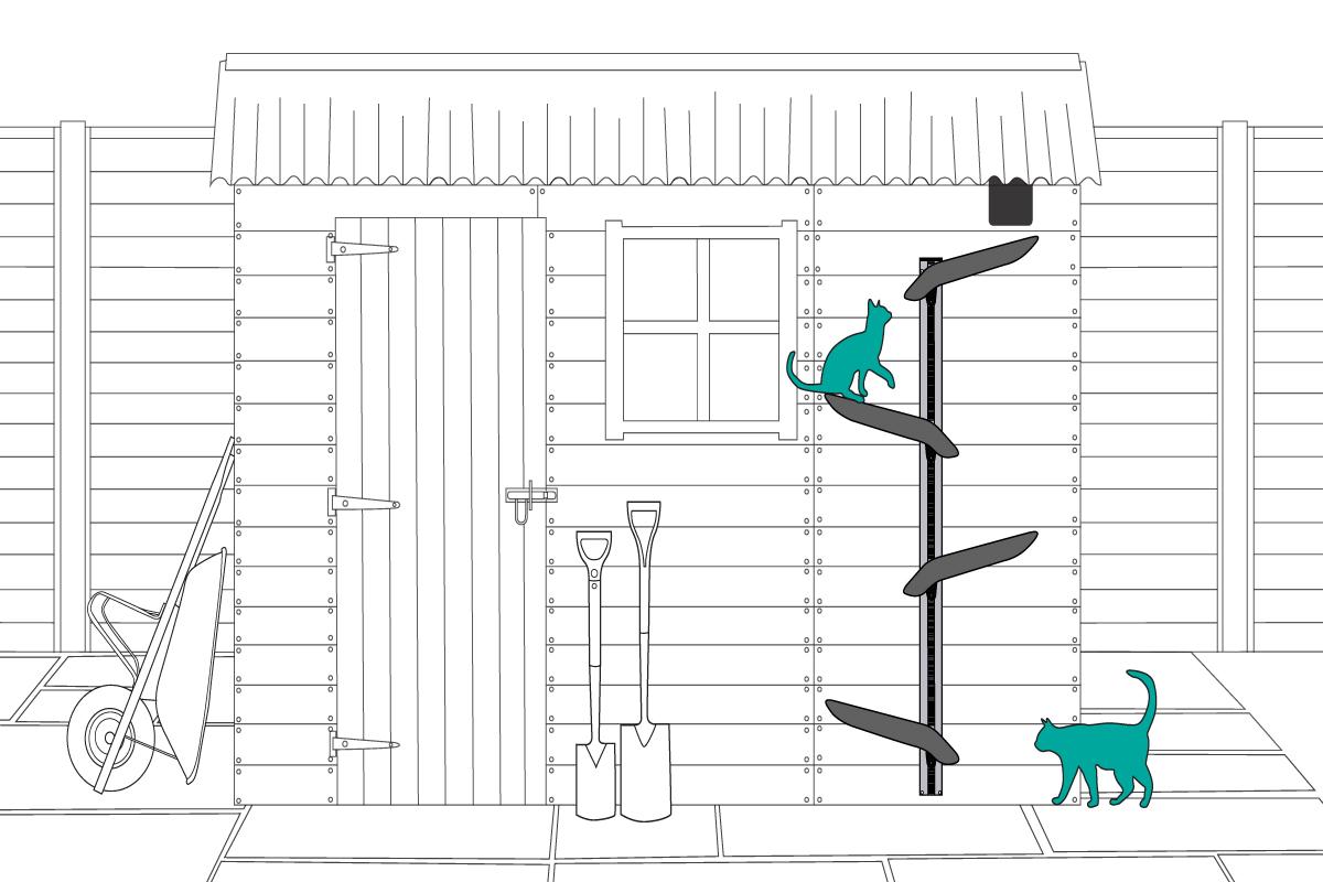 Outdoor Cat Enrichment Ideas Tree