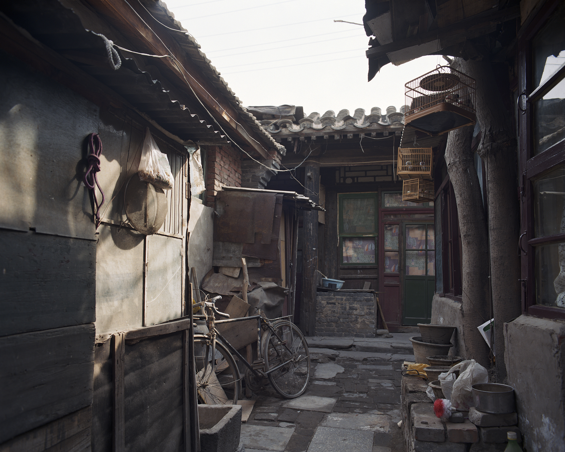 A small alley in a hutong in Beijing