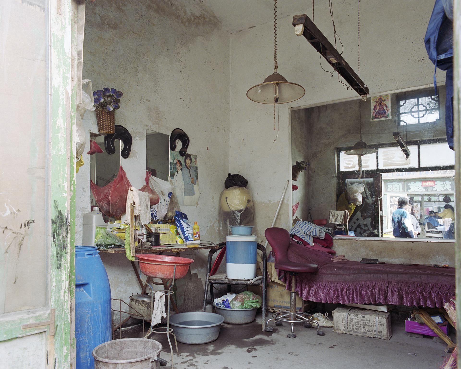 Hairdessers's shop.