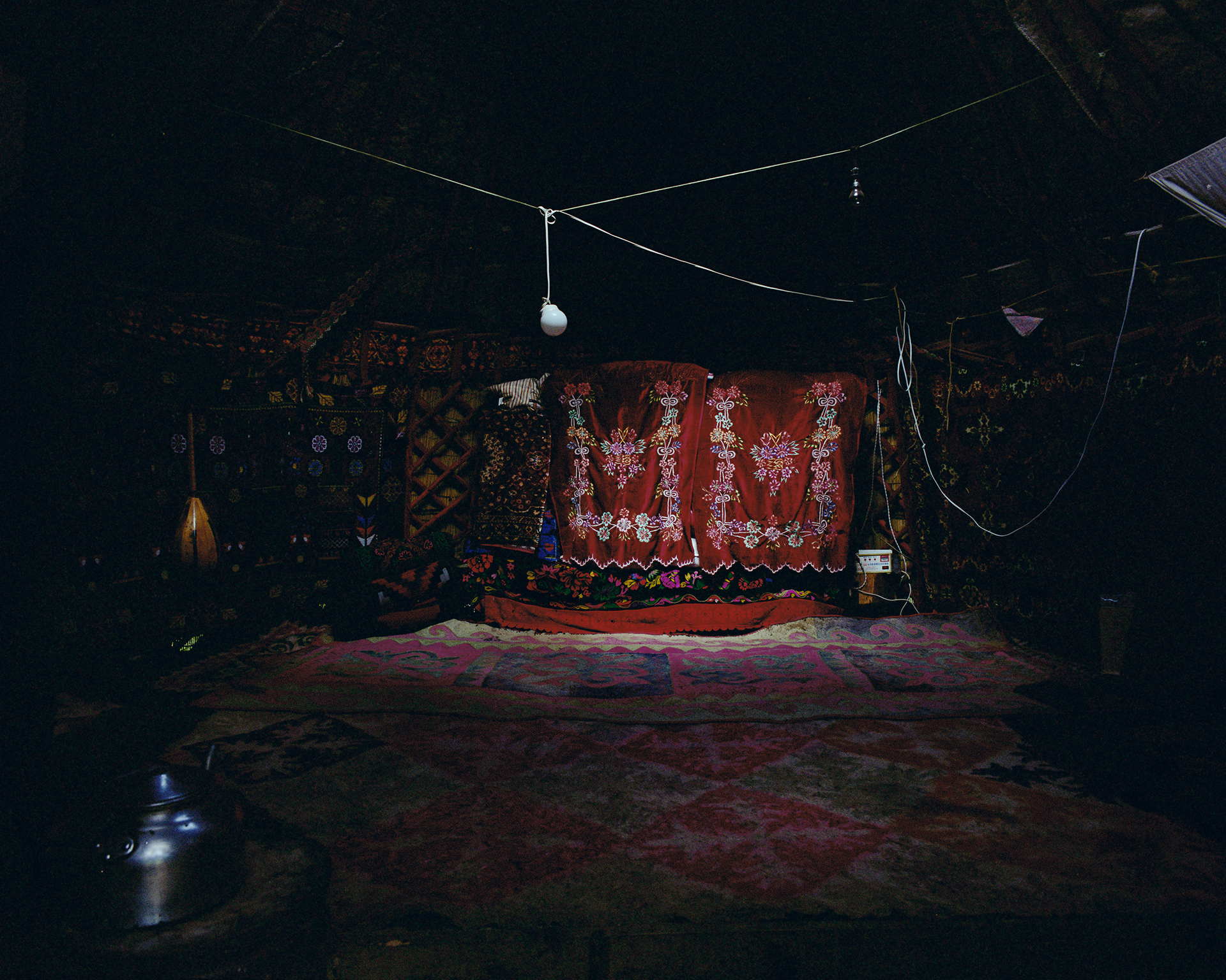 2007 Xinjiang - Karaoke bar in the country side.
