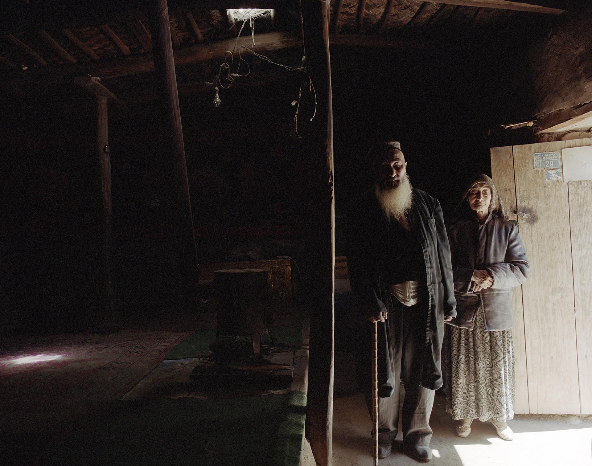 2007 Xinjiang -Buya, the Patriarch and his wife.