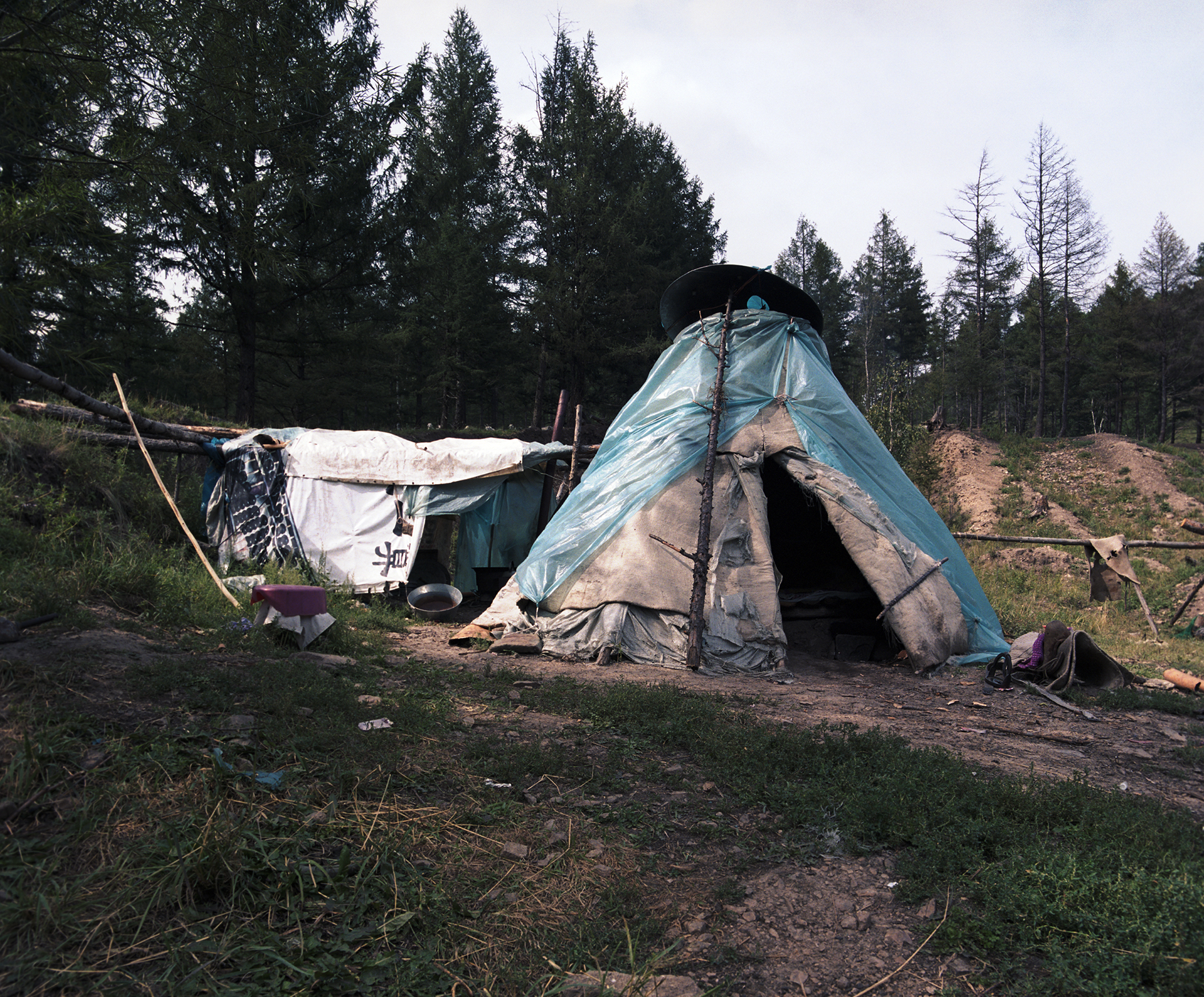 2008 Inner Mongolia - a tipi and a kitchen full of dirty black flies.