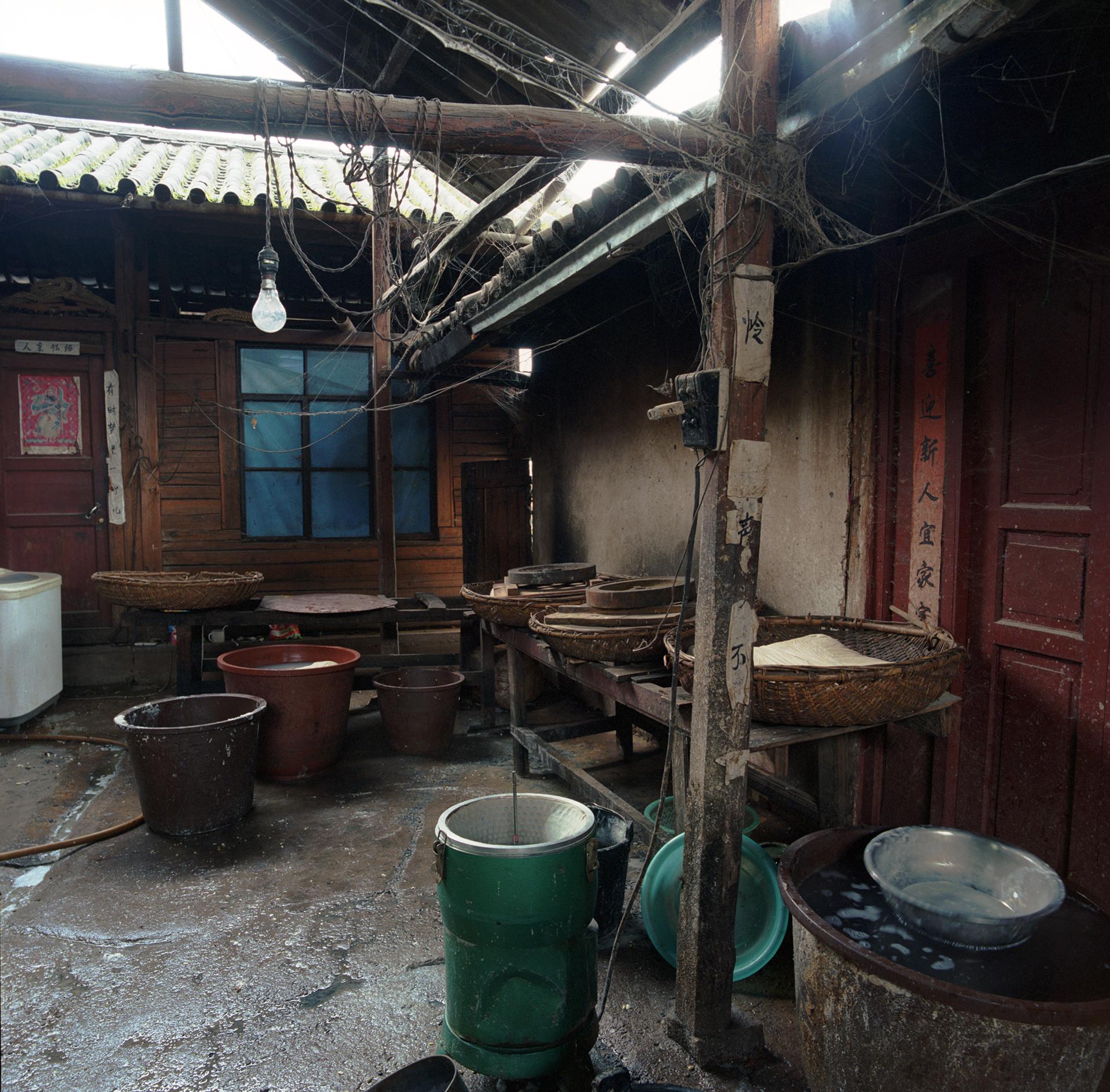 2008 Yunnan - a small soja factory.