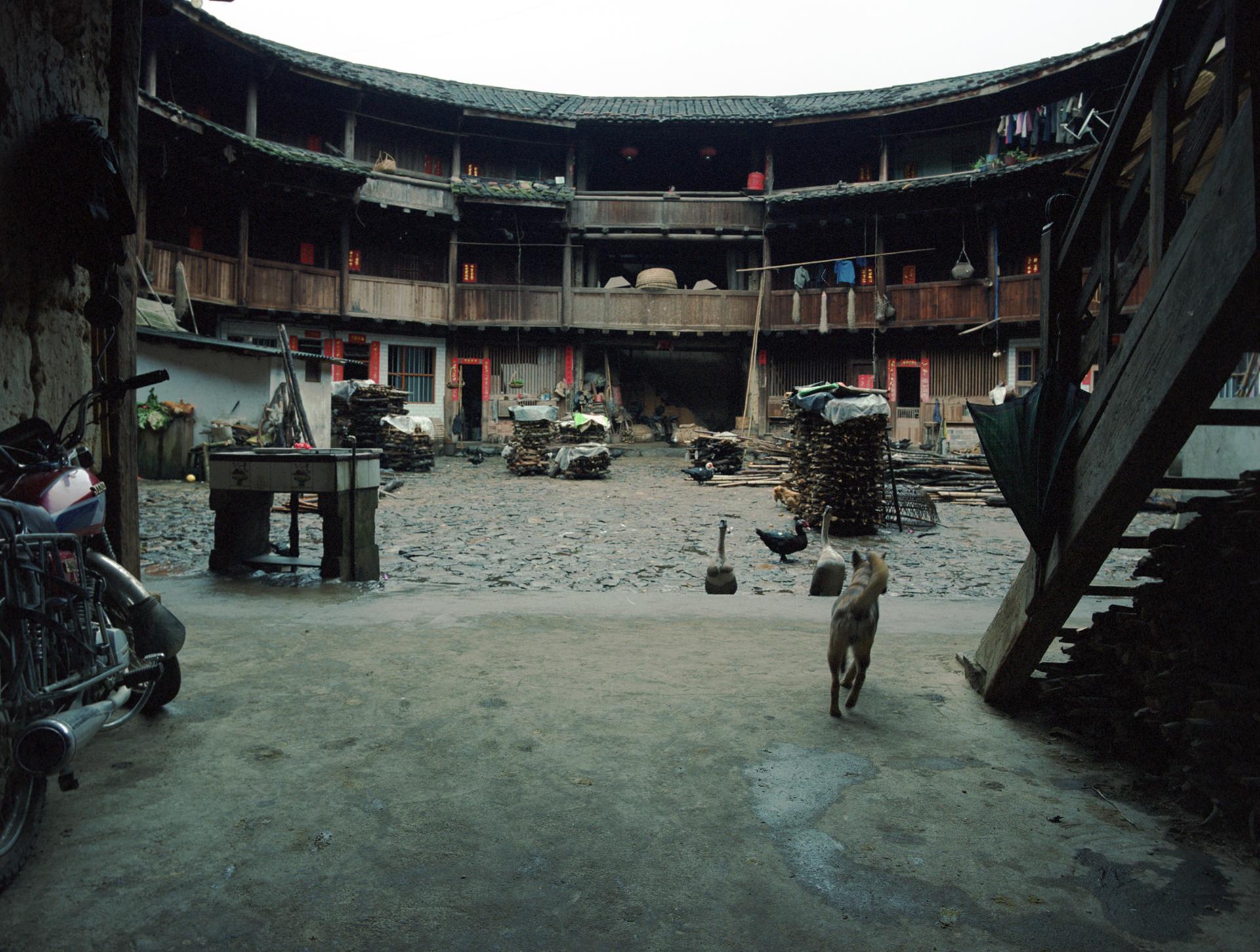 2009 Fujian - entrance to communal courtyard of a Hakka house.