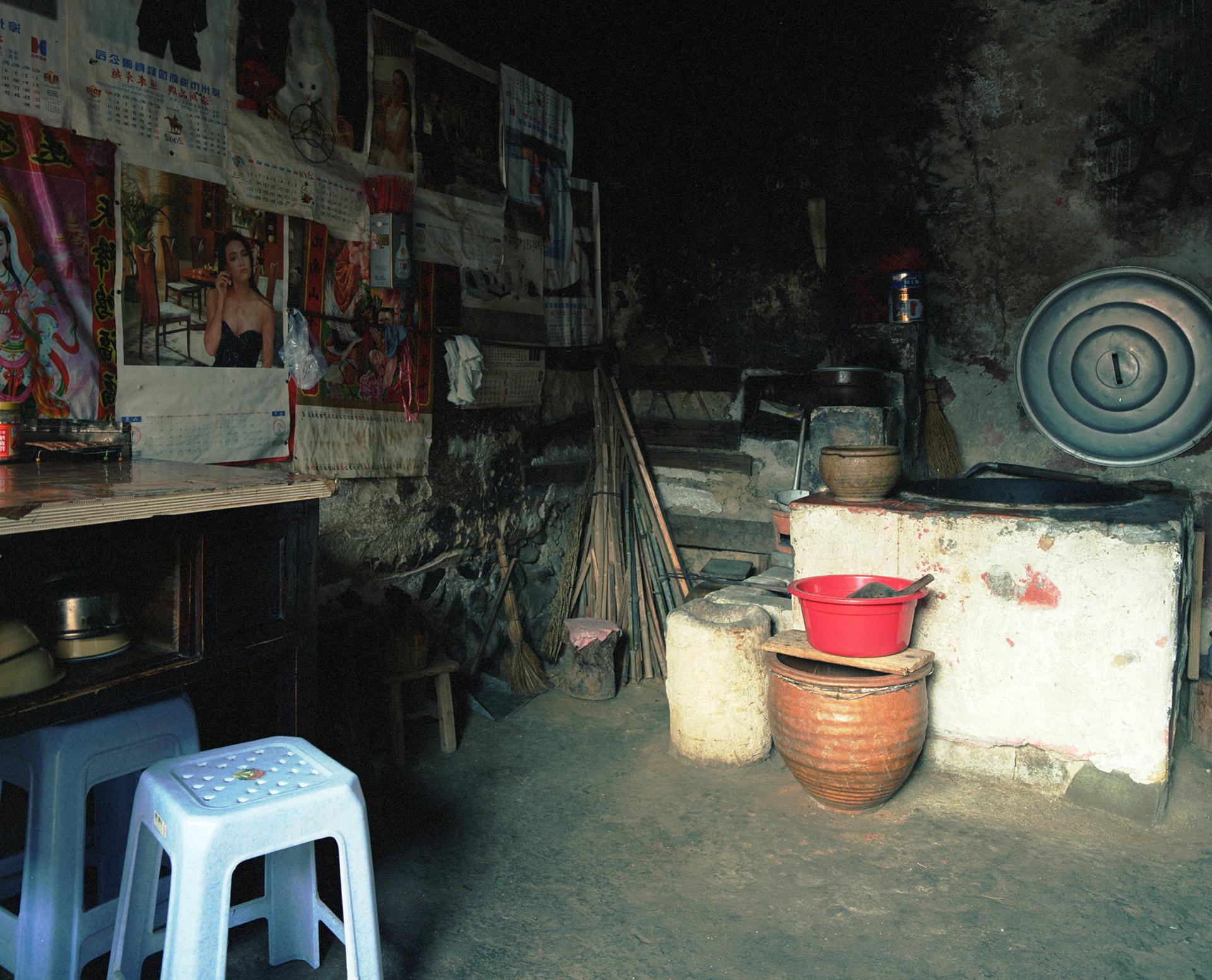 2009 Fujian - private space in the communal Hakka house.