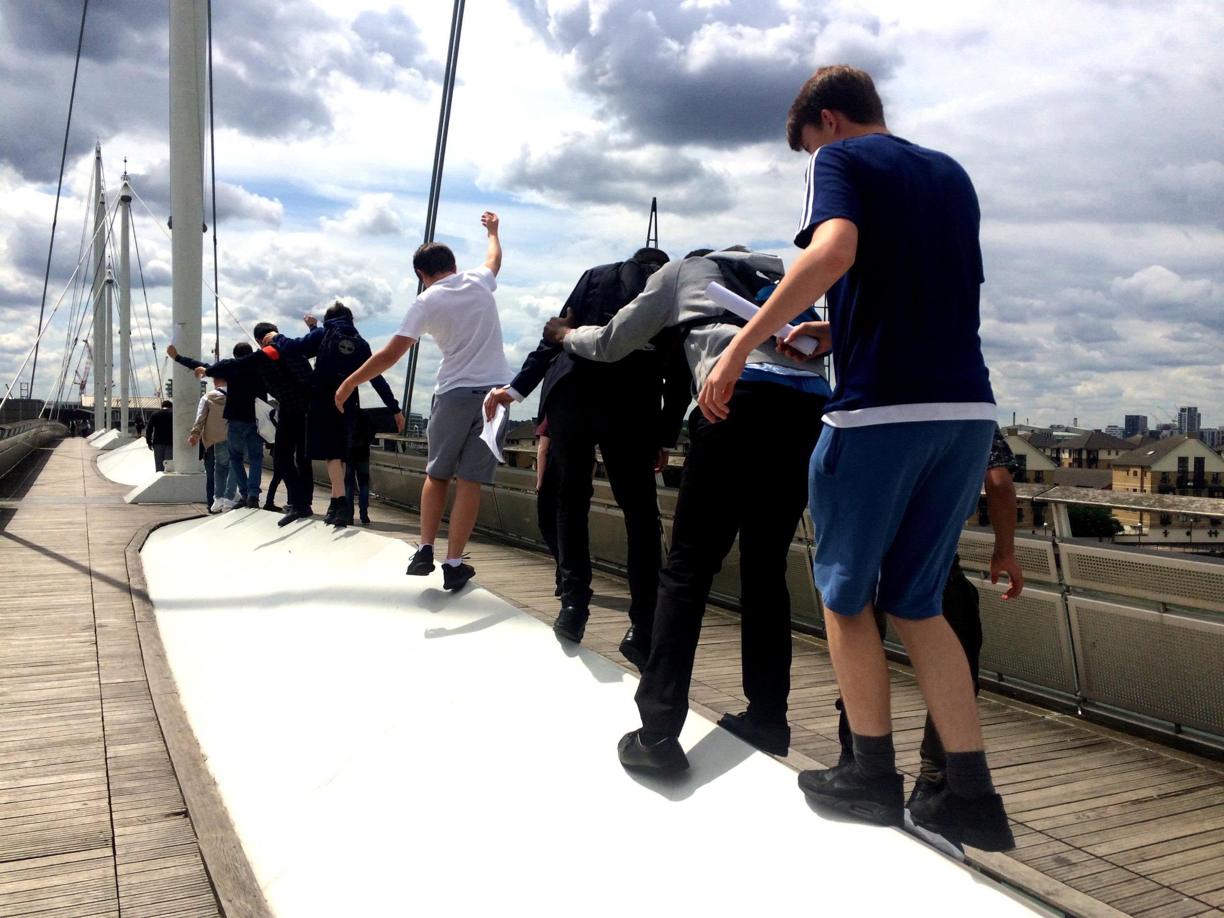 Balancing on the bridge