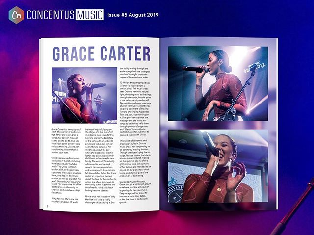 FEATURE OF THE DAY // P5-6  @gracecarter and her transformation of pain to strength in 'Why Her Not Me.' Magazine #5 avail now in Rough Trade or online 🔥  #gracecarter #newmusic