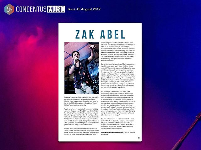 FEATURE OF THE DAY // P20  @zakabel interviews about his momentous Roundhouse headline show, his experiences in Seoul, plus his collaborations head of his brand new tune out with @dukedumont now! Magazine #5 avail now in Rough Trade or online 🔥  #zakabel #dukedumont #newmusic #barnonthefarm